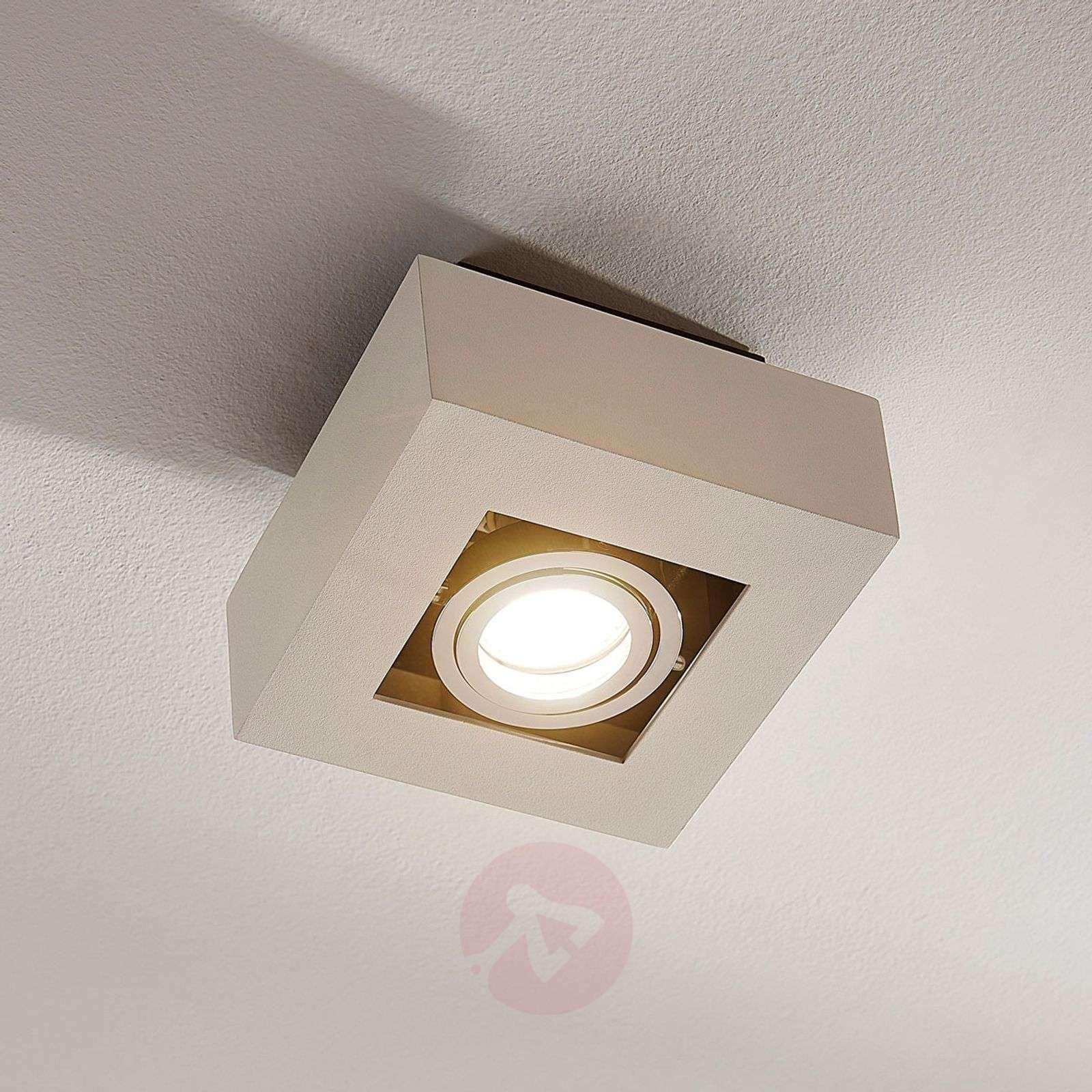 Kulmikas LED-kattovalaisin Vince valkoisena-9620456-01