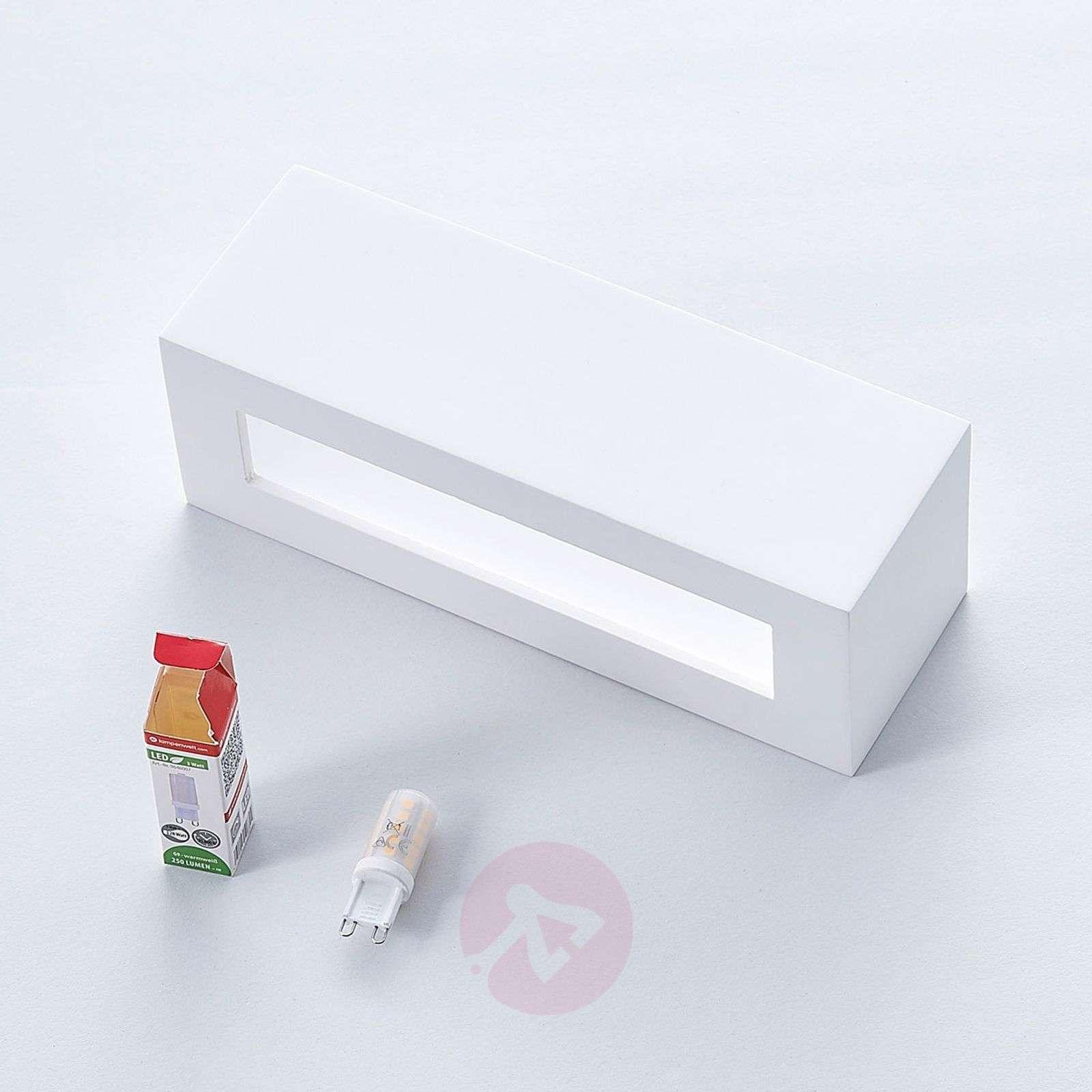 Kulmikas LED-seinävalaisin Tjada, kipsiä-9621336-02
