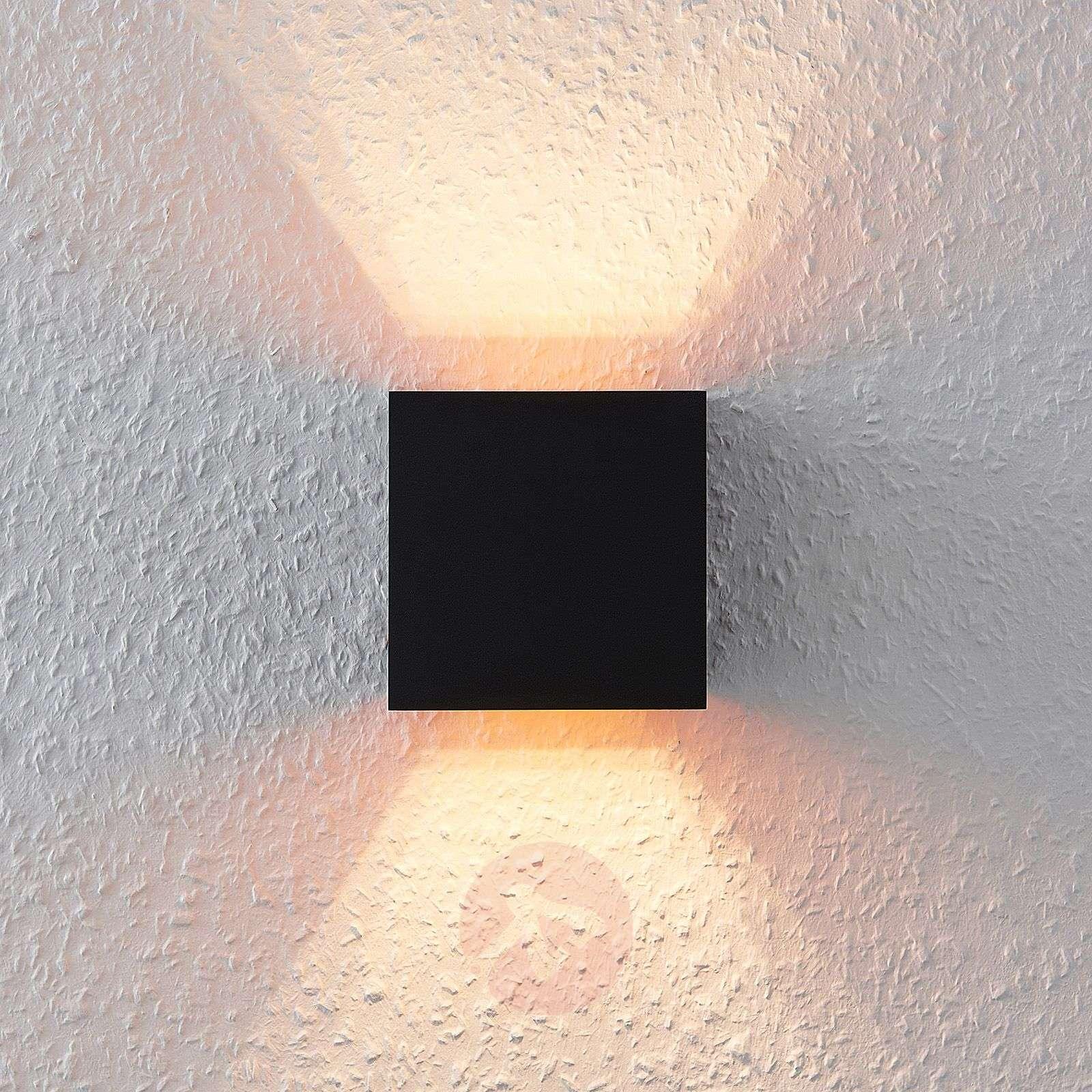 Kulmikas LED-seinävalo, G9-lamppu, musta-kultainen-9621855-02