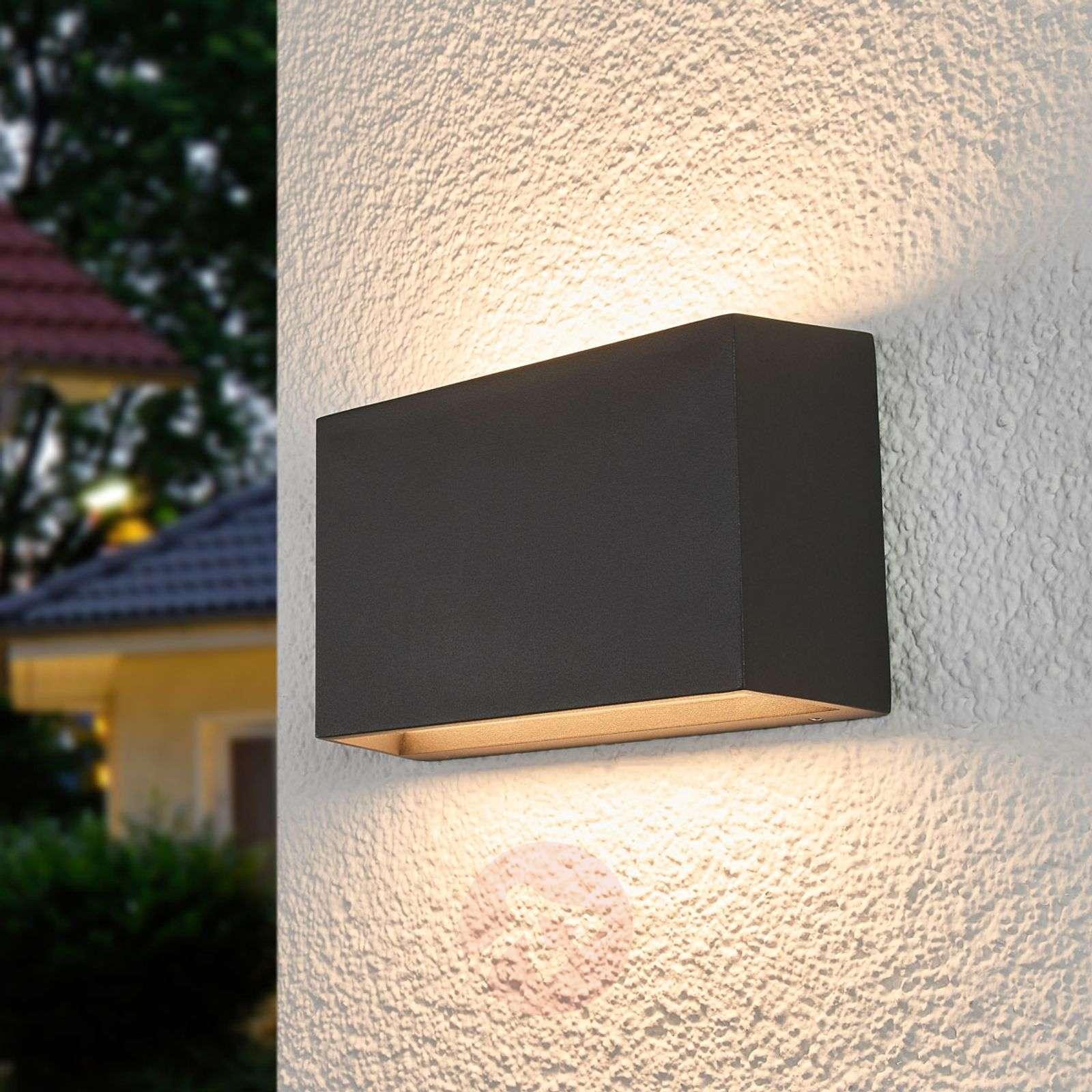 Kulmikas LED-ulkoseinävalaisin Selma, tummanharmaa-9955044-01