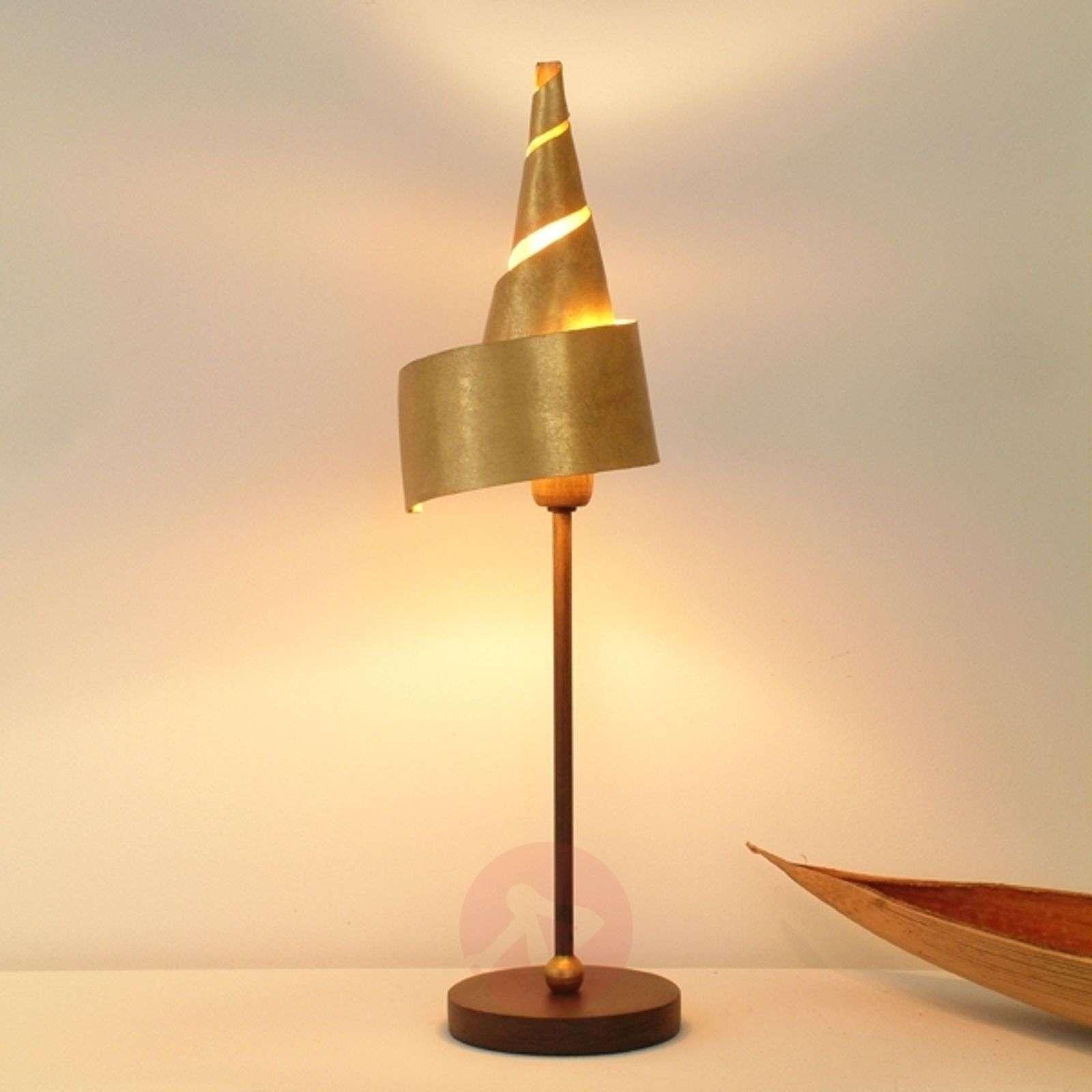Kulta pöytävalaisin TAIKAHATTU metallivarjostin-4512040-01