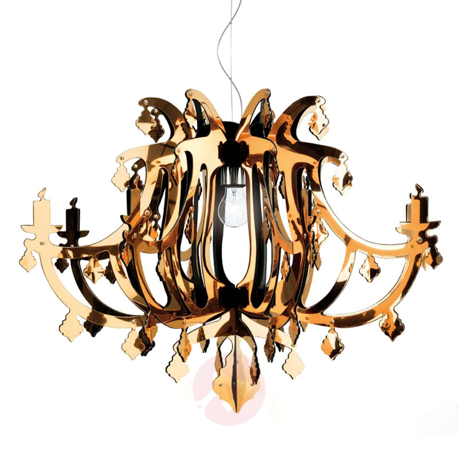 Kultainen design-riippuvalaisin Ginetta-8503219-01