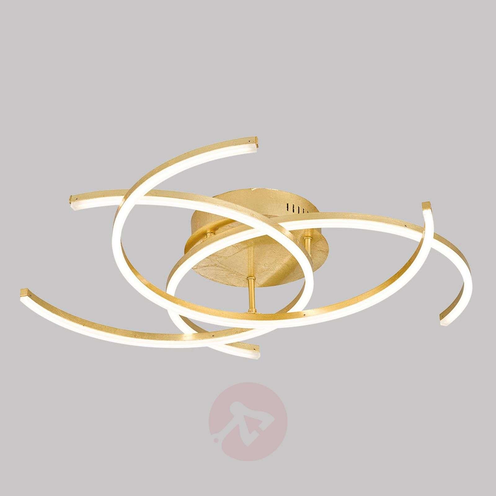 Kultainen kattolamppu Visby himmennettävä-4581495X-01