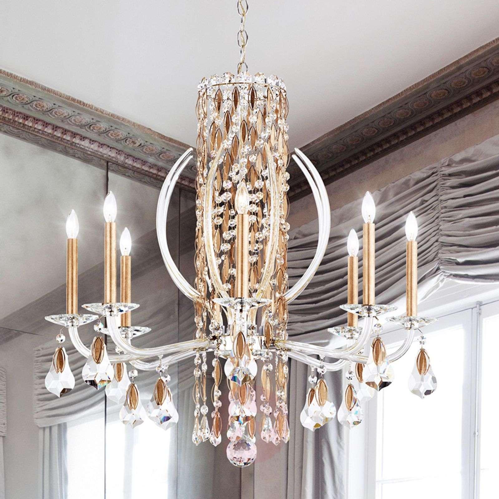 Kultainen kristallikruunu Sarella, 8-lampp.-8583043-01