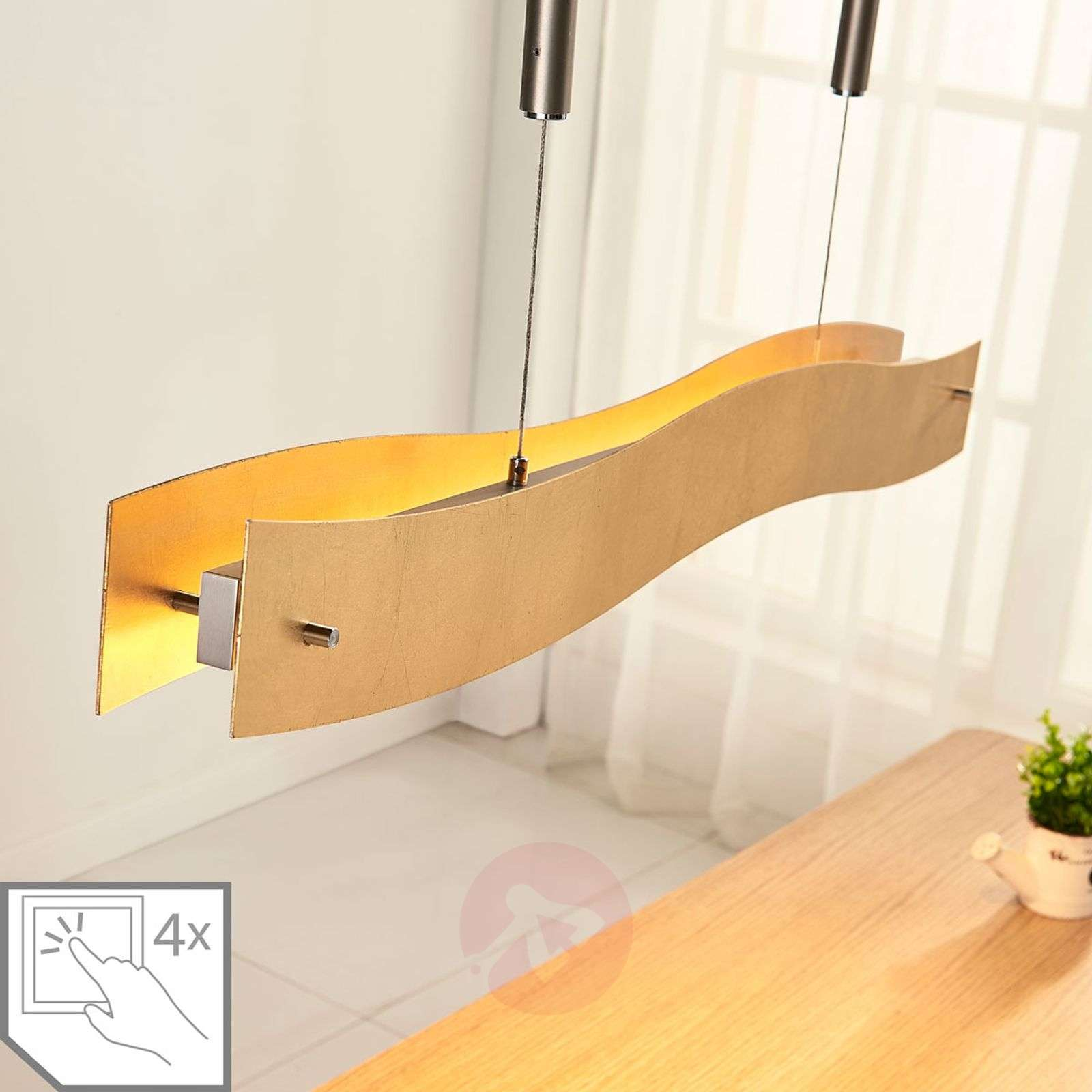 Kultainen LED-riippuvalaisin Ebu, himmennettävä-9621394-02