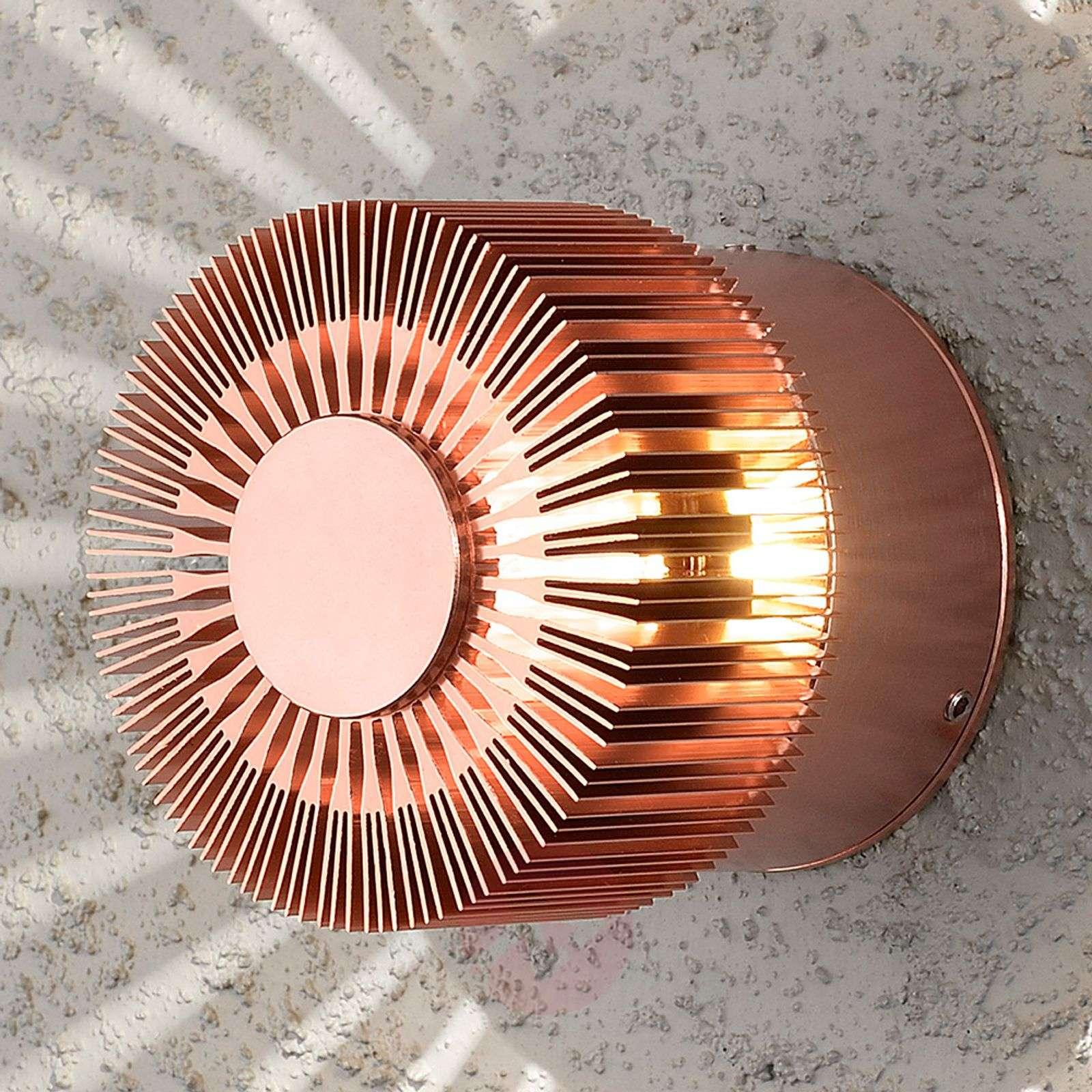 Kuparin värinen LED-ulkoseinävalaisin Monza-5522454-01
