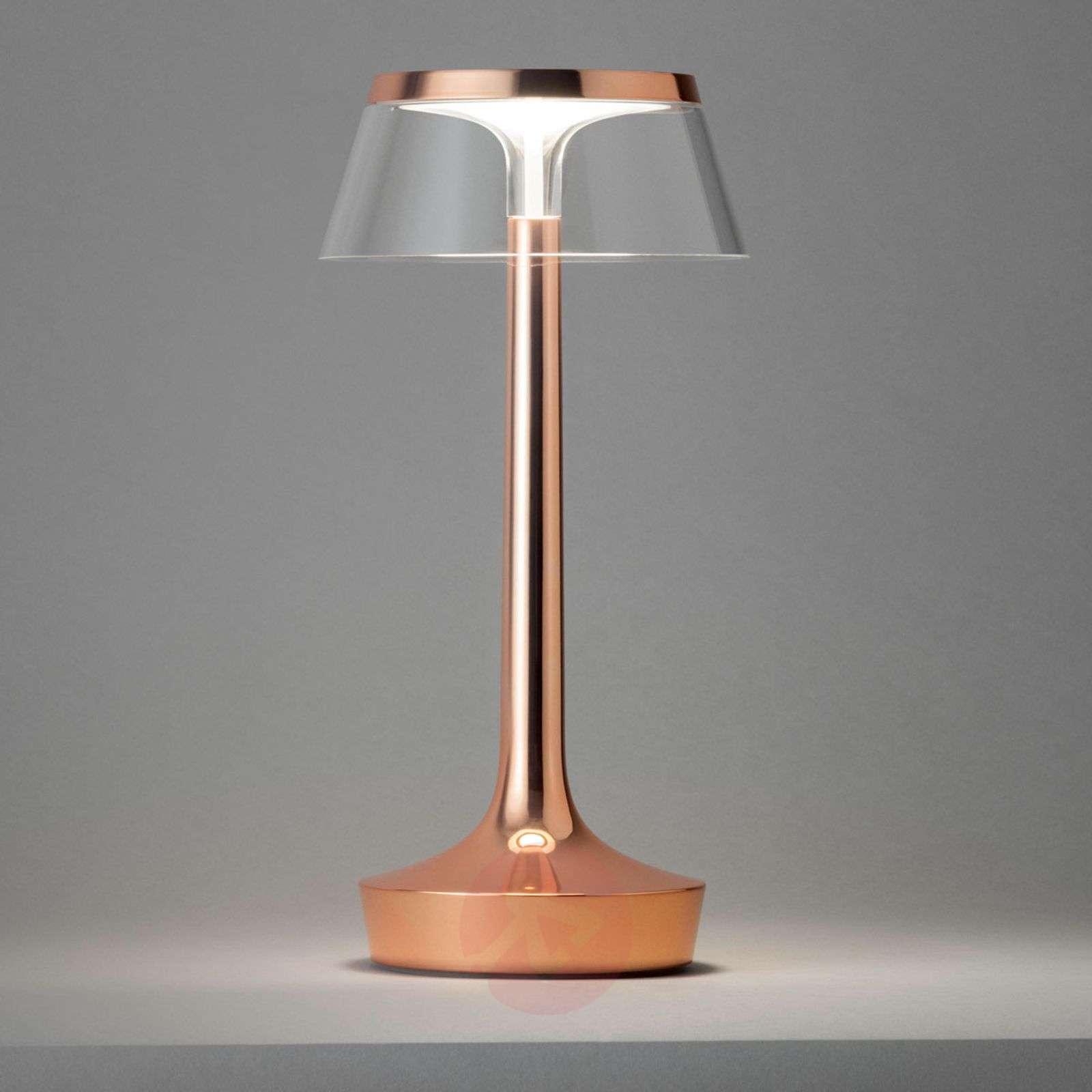 Kuparinvärinen Bon Jour unplugged LED-pöytävalo-3510380-01