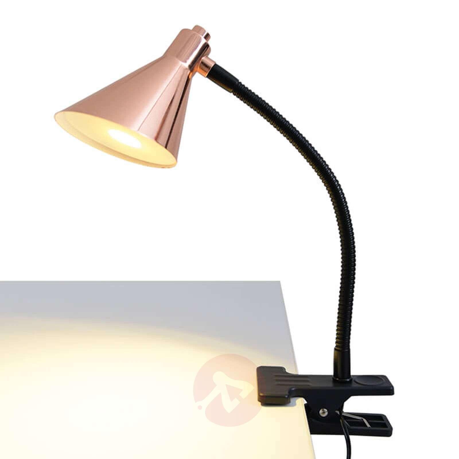 Kuparinvärinen LED-klipsivalaisin Janita-7000746-01
