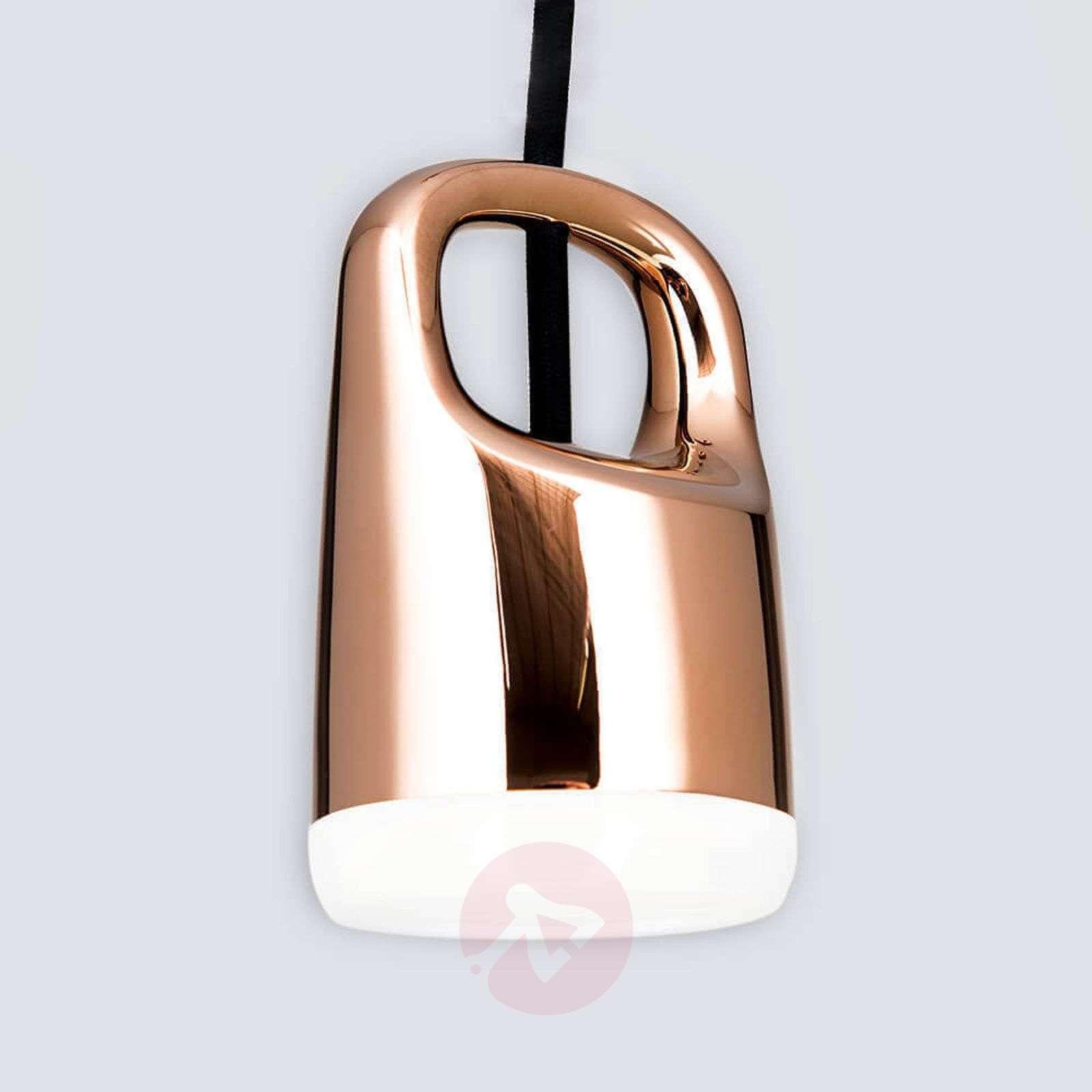 Kuparinvärinen LED-riippuvalaisin Tinus