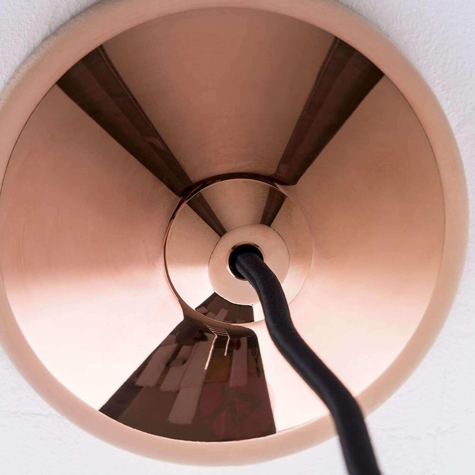 Kuparinvärinen LED-riippuvalaisin Tinus-7255308-01