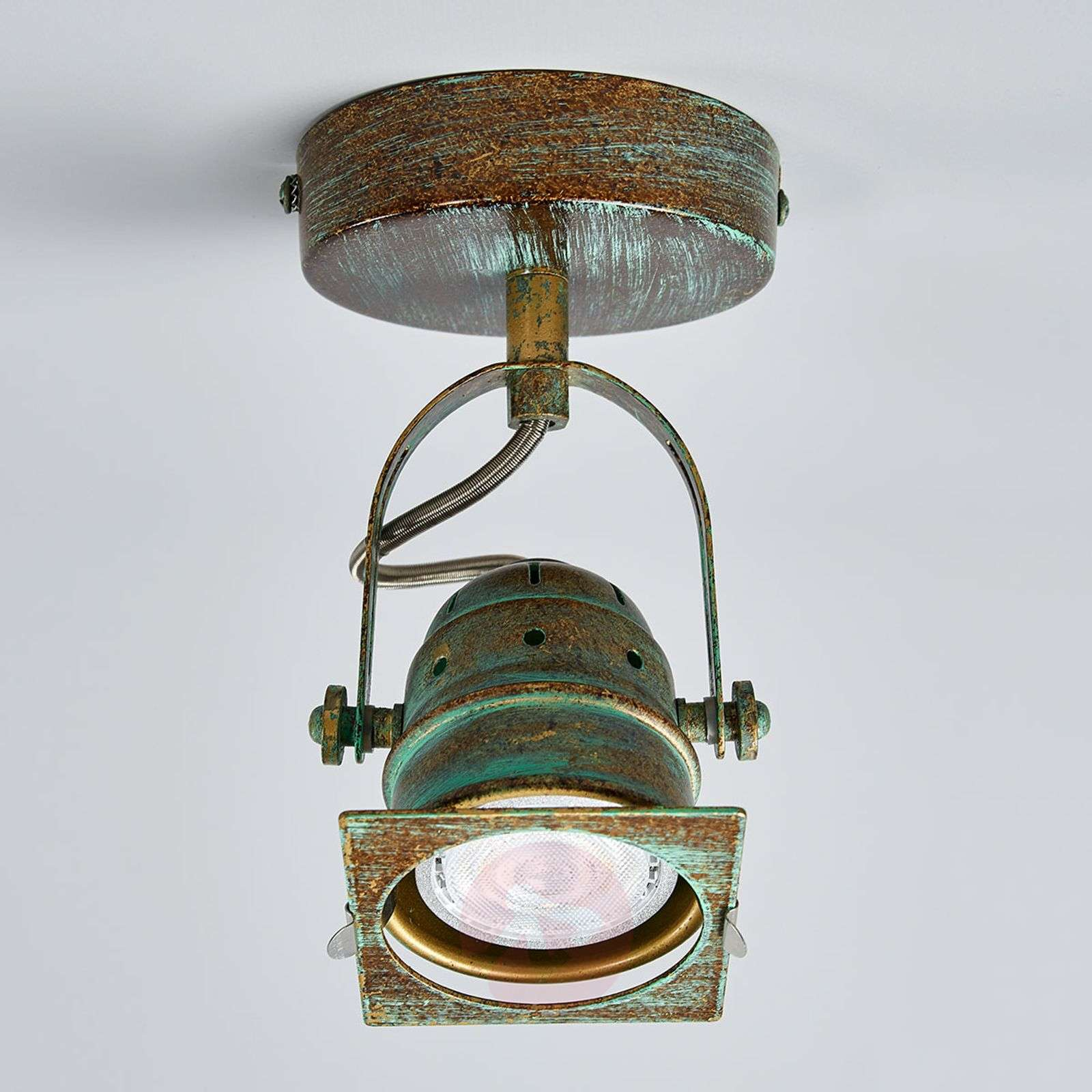 Kuparinvihreä Janek-kohdevalo LED-lampulla-9639083-03