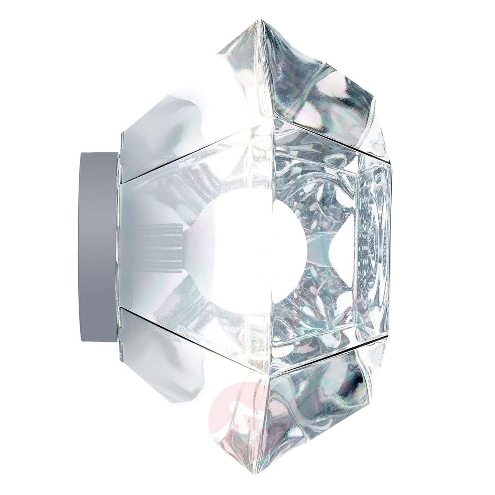 Kuusikulmainen Cut Surface-kattolamppu, kromi-9043045-01