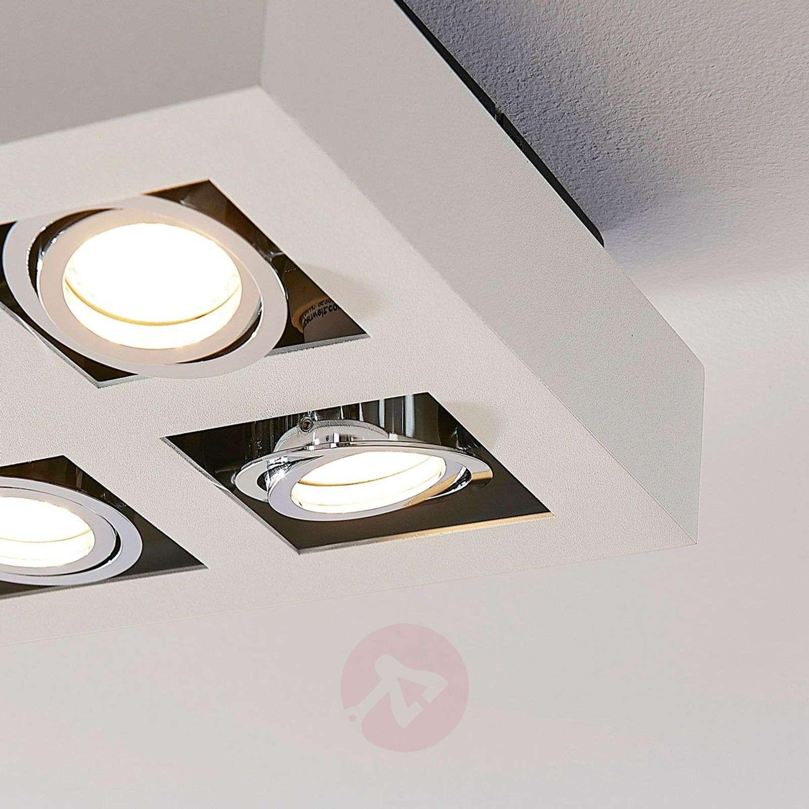 Kuusilamppuinen LED-kattovalaisin Vince valkoisena-9620461-01
