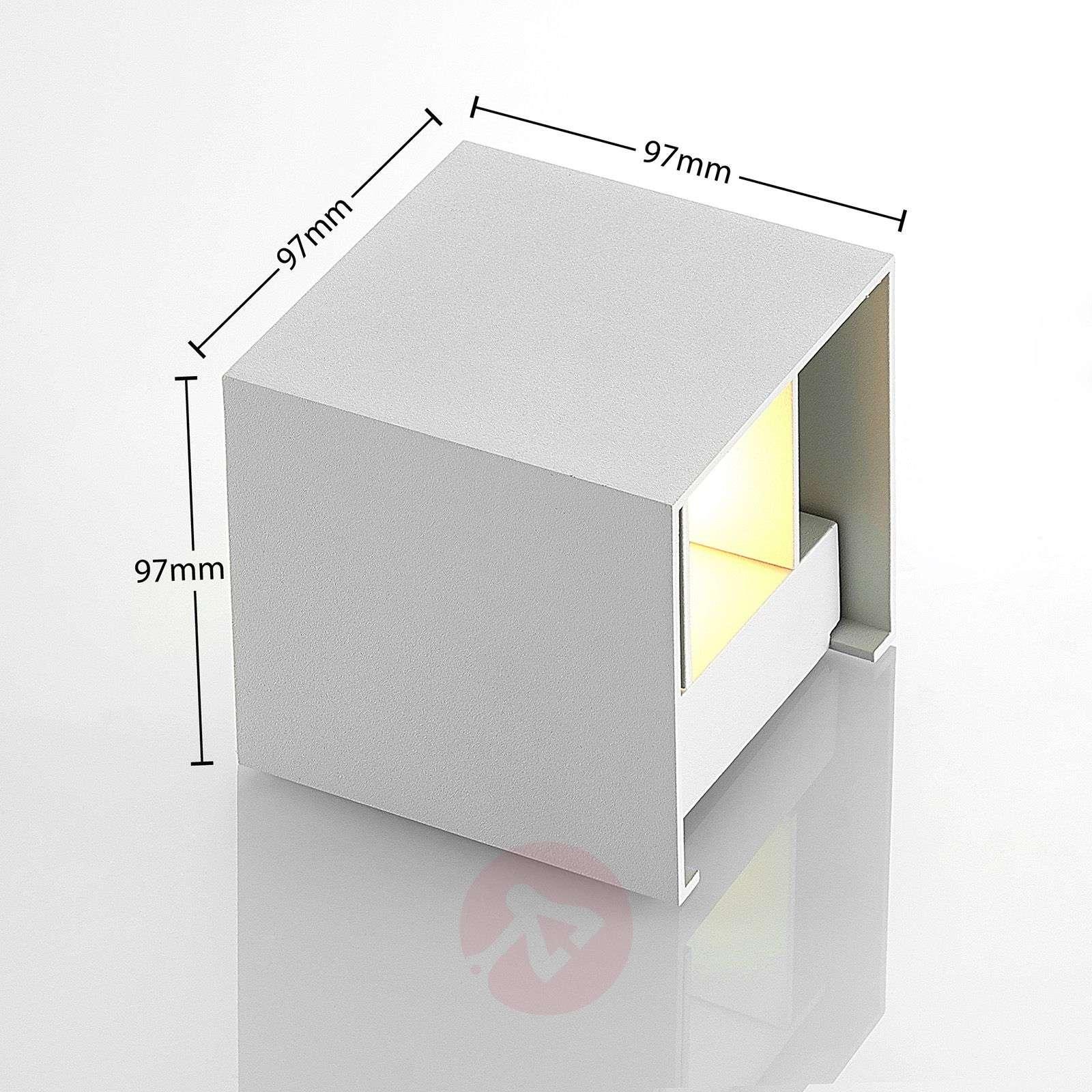 Kuutiomainen LED-seinävalaisin Zuzana, G9, himmen.-9621854-02