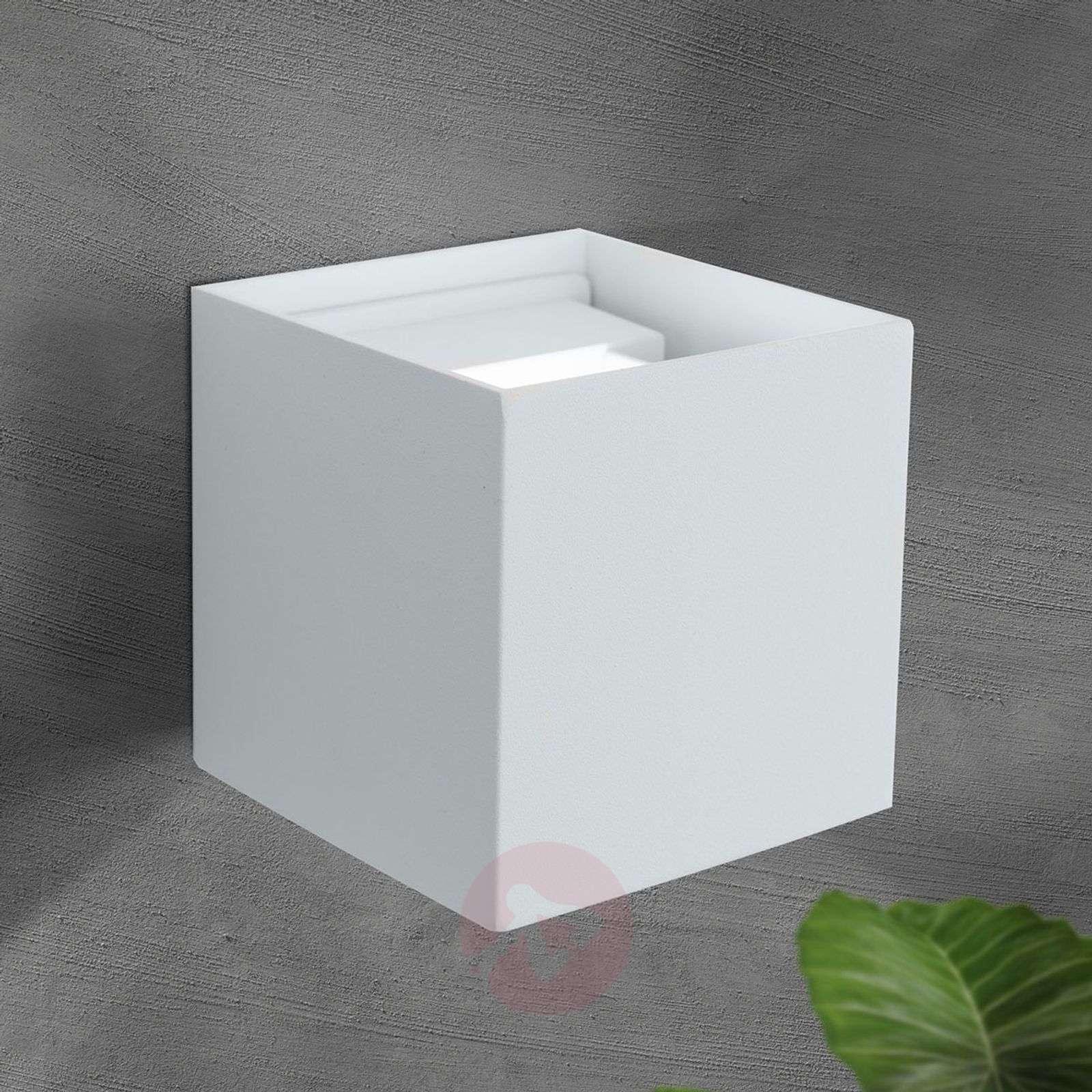 Kuutiomainen LED-ulkoseinävalaisin Cube, valkoinen-7255349-01