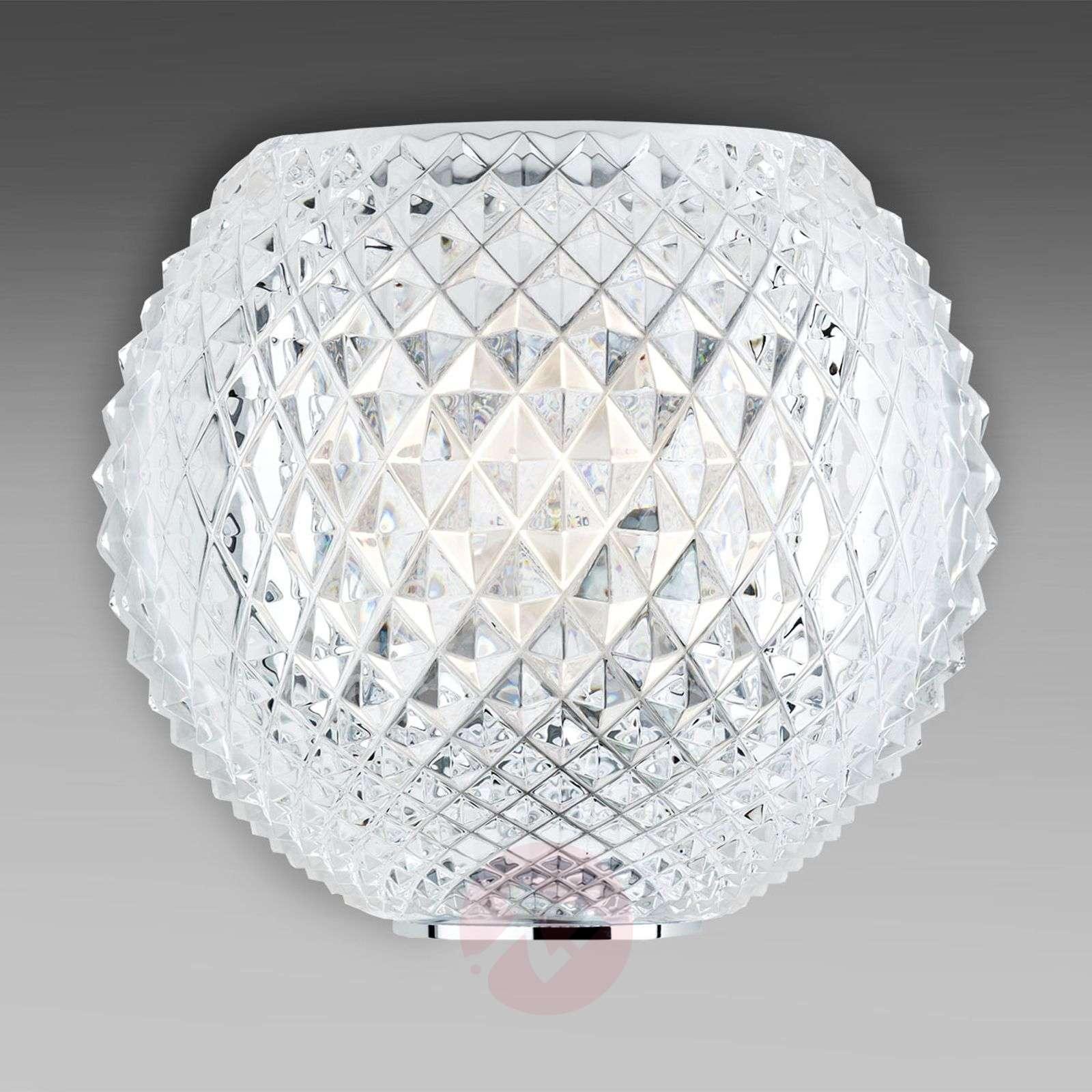 Kuvioitu kristalliseinävalaisin Diamond and Swirl-3503177-01