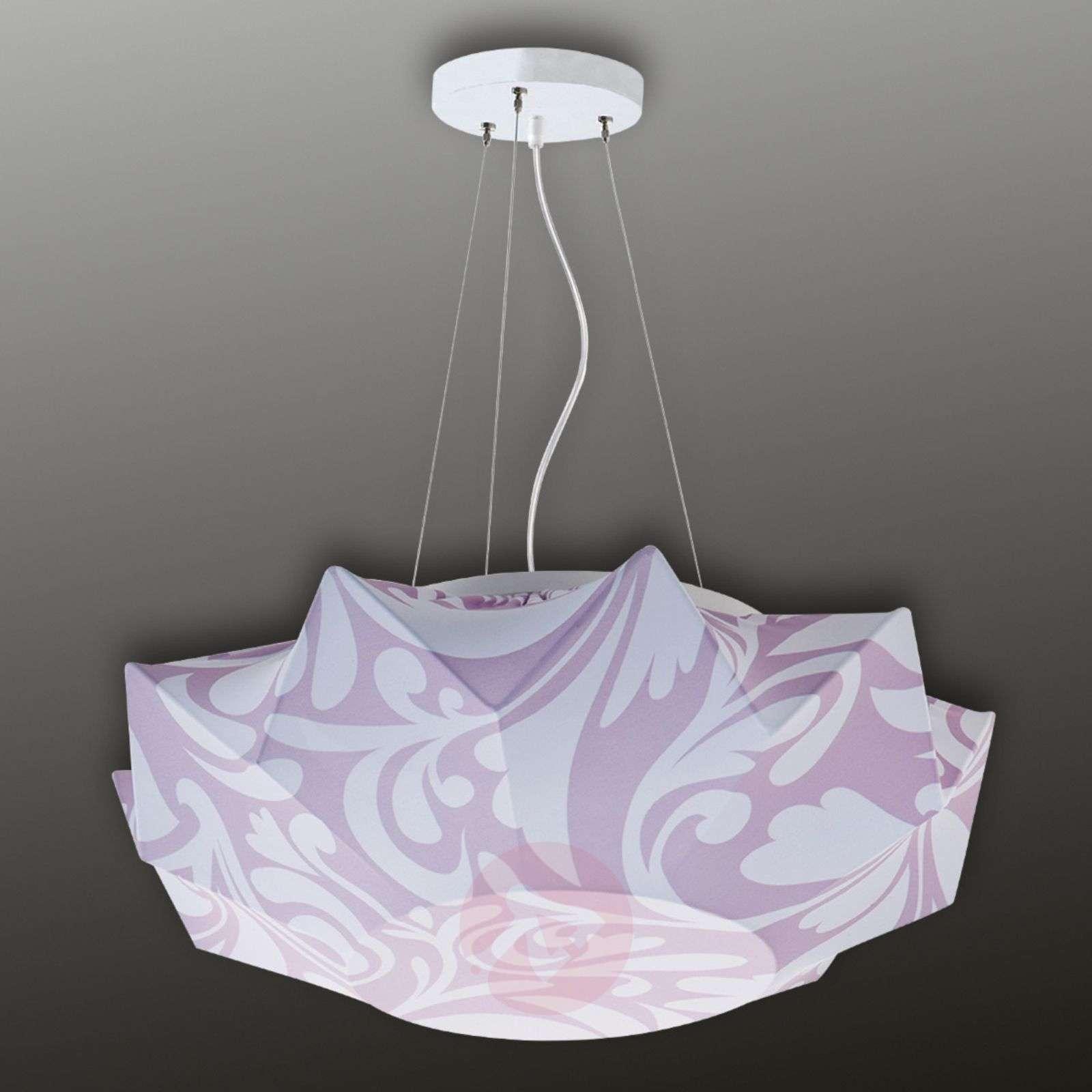 Kuviokankainen Art-riippuvalaisin 60 cm, lila-1069007-01
