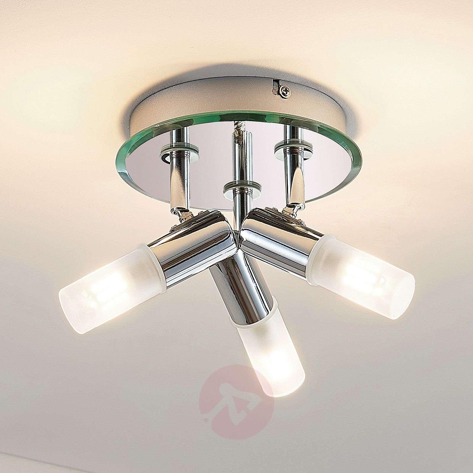 Kylpyh. spottiplafondi Zela, 3-lamppuinen kromi-9624385-02