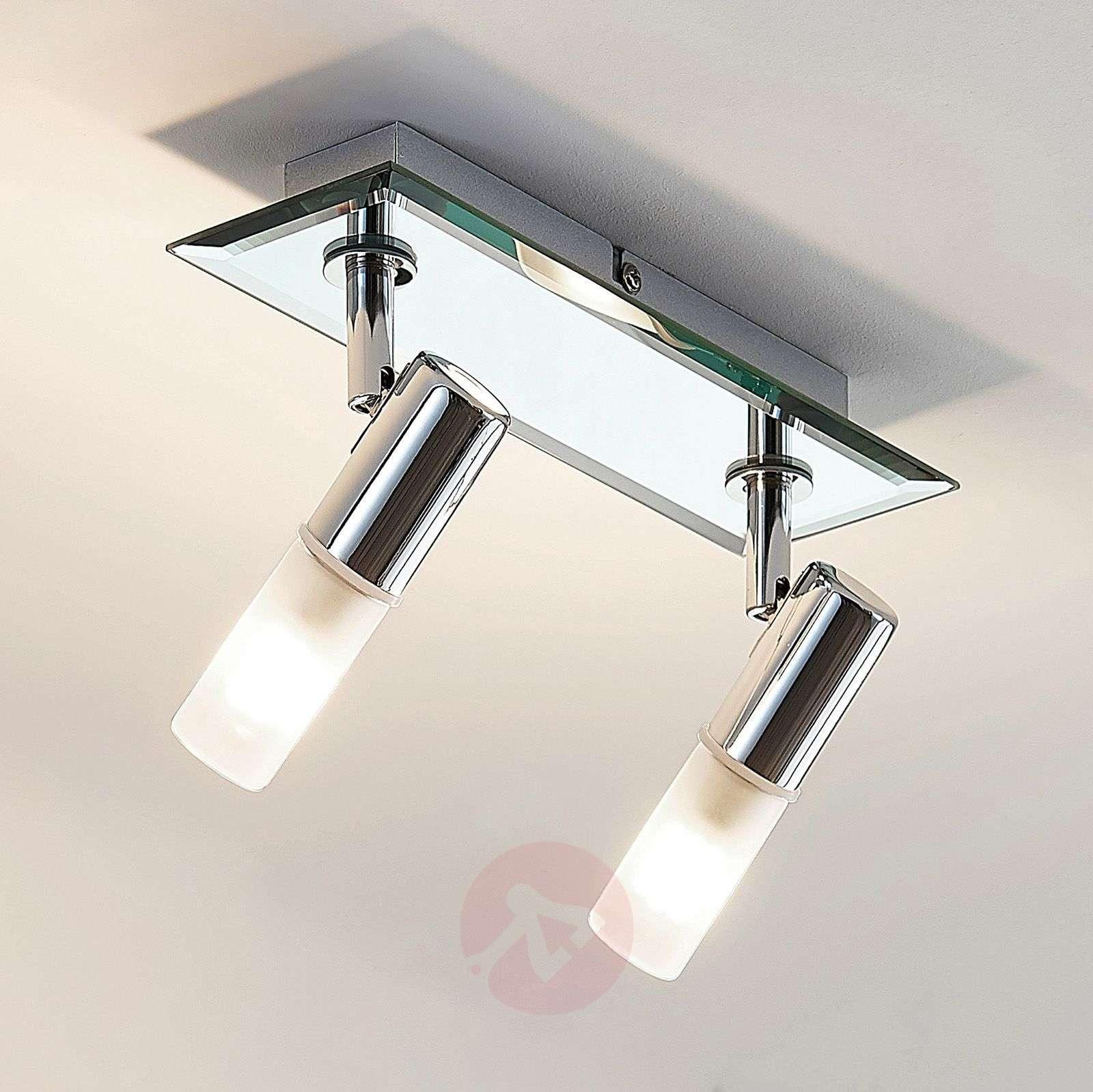 Kylpyhuoneen kattolamppu Zela, 2-lamppuinen kromi-9624384-02