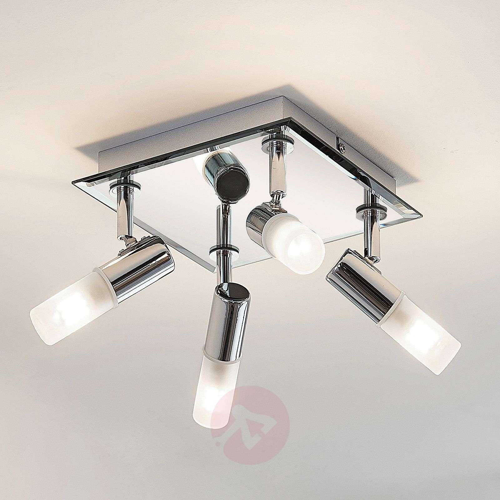Kylpyhuoneen kattolamppu Zela, 4-lampp. 32x32cm-9624386-02