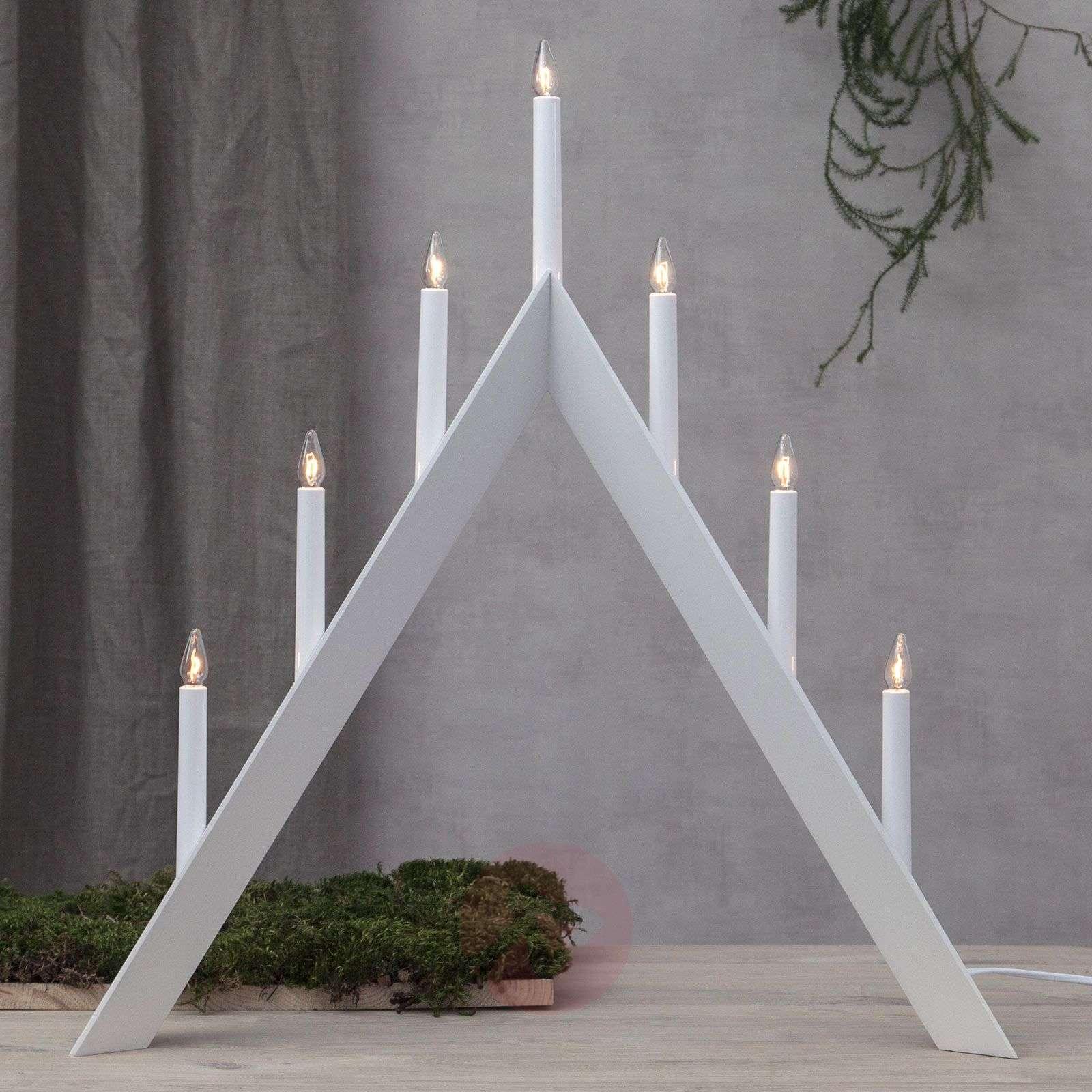 Kynttelikkö Arrow, suippo, 7-lamppuinen-1523721X-01