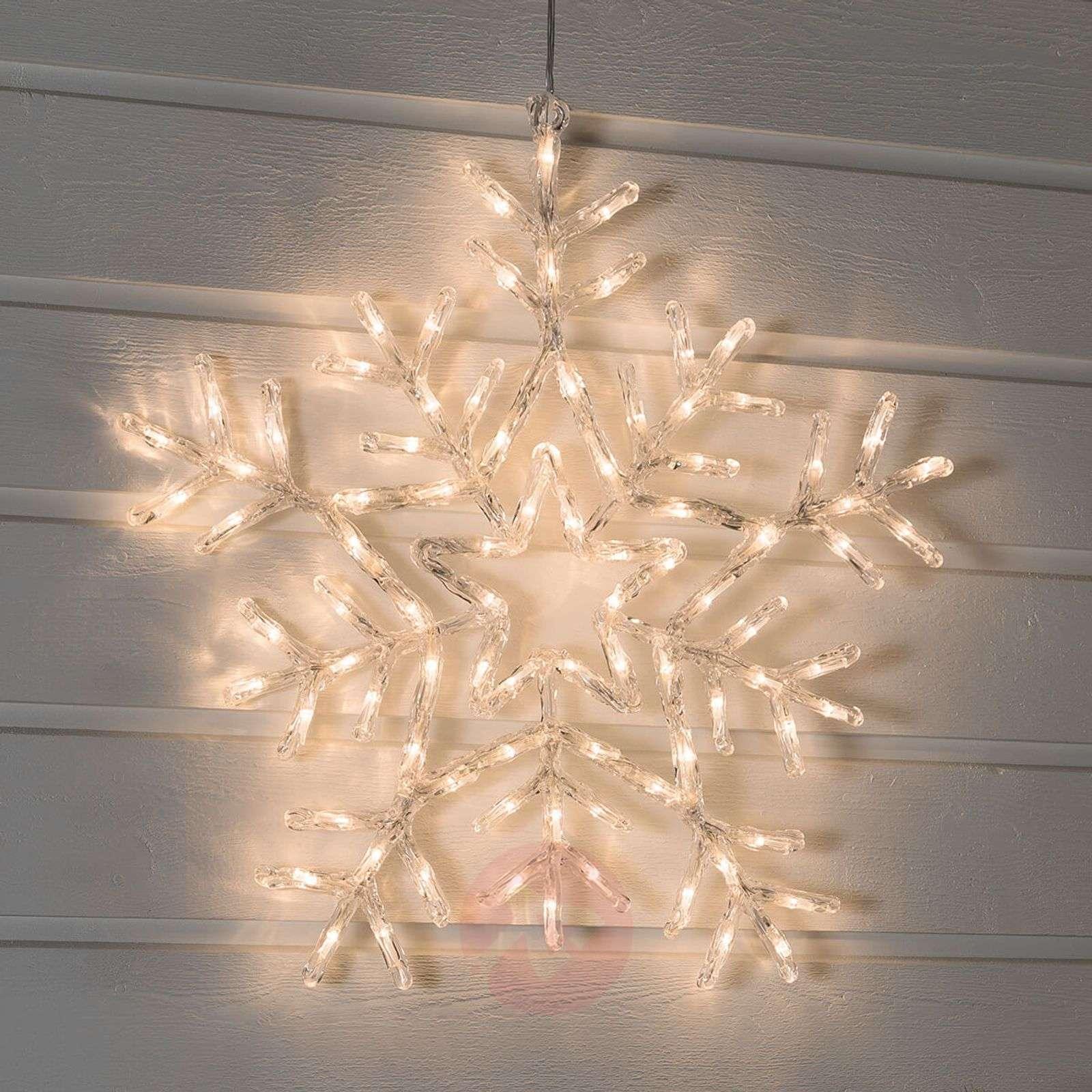 Lämmintä valkoista valoa loistava LED-lumihiutale-5524757-01