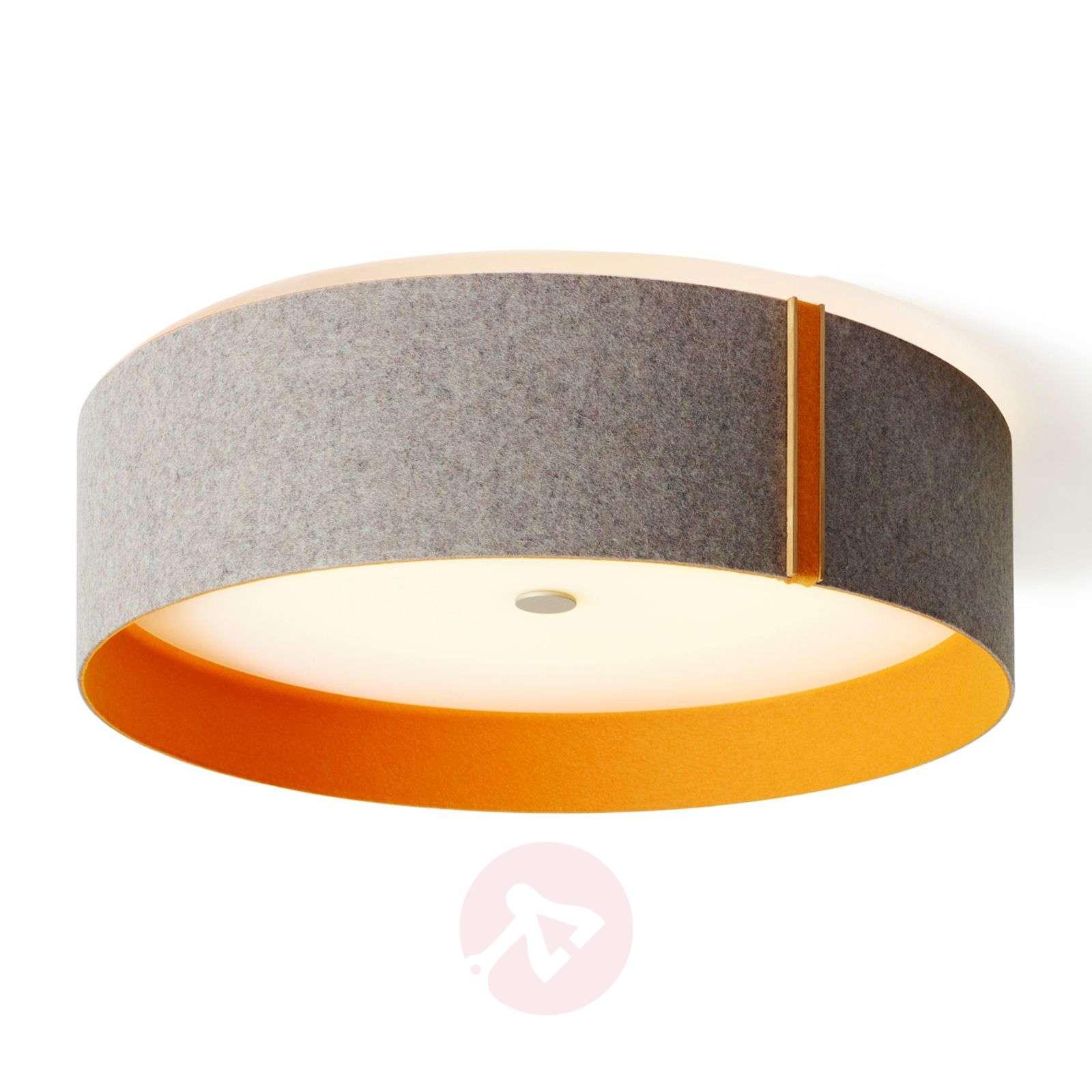 Lara felt huopa kattovalaisin LED harmaa-oranssi-2600508-01