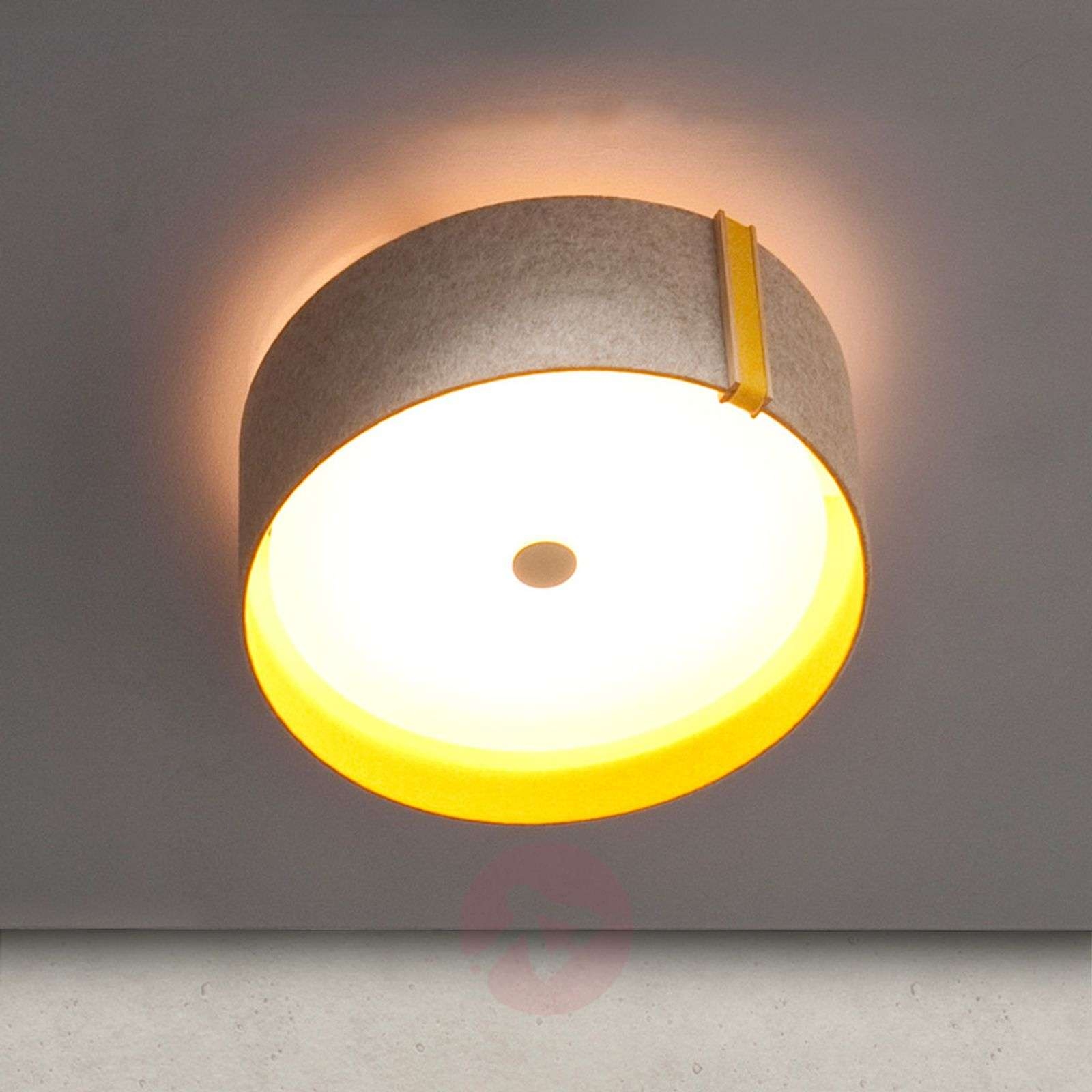 Lara felt-kattovalo huovasta, LED, harmaa-curry-2600509-01