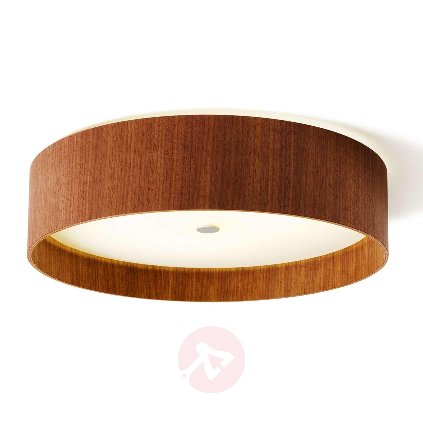 Lara wood LED-kattolamppu pähkinäpuusta 55 cm-2600505-01