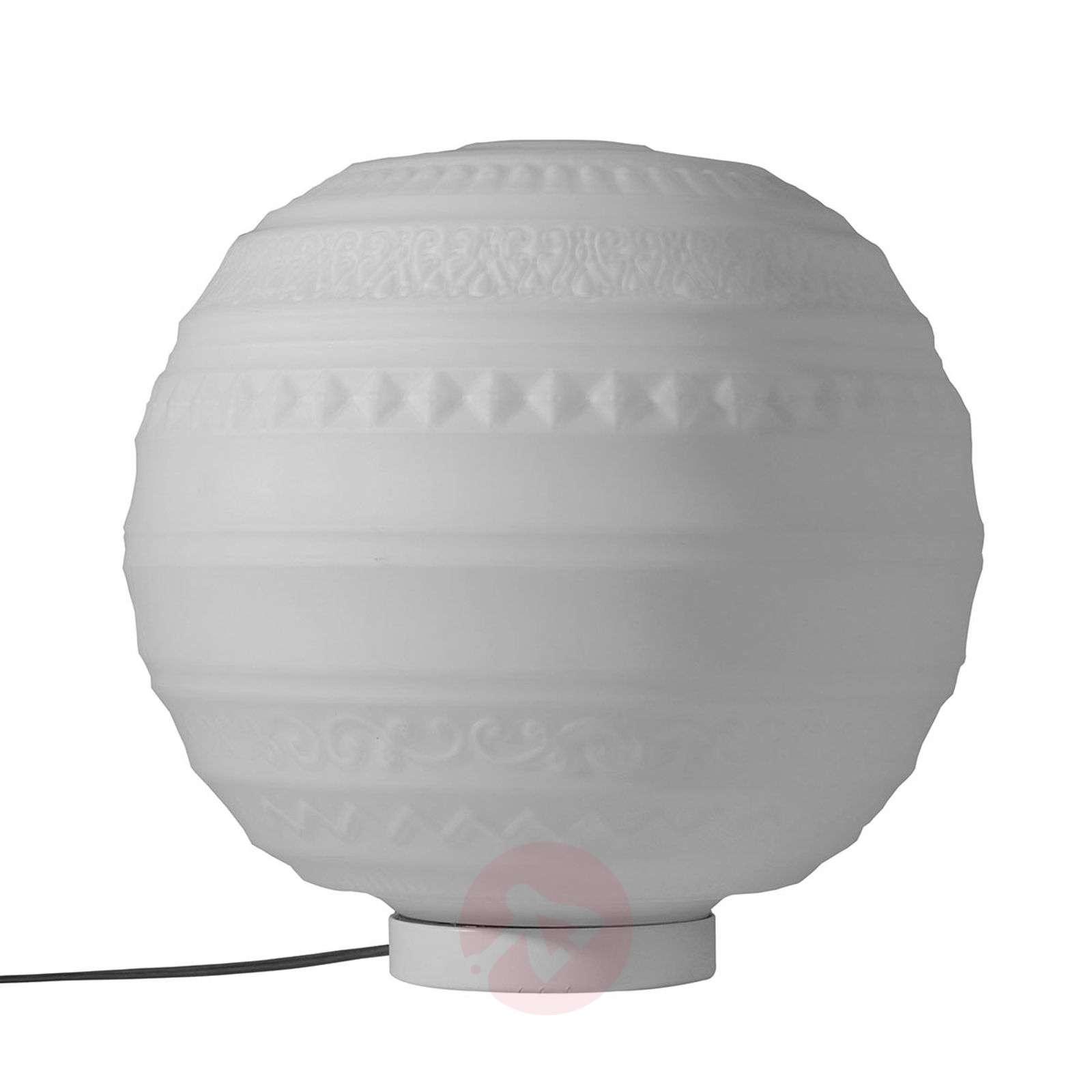 Lasinen design-pöytävalaisin Braille suupuhallettu-5542022X-01