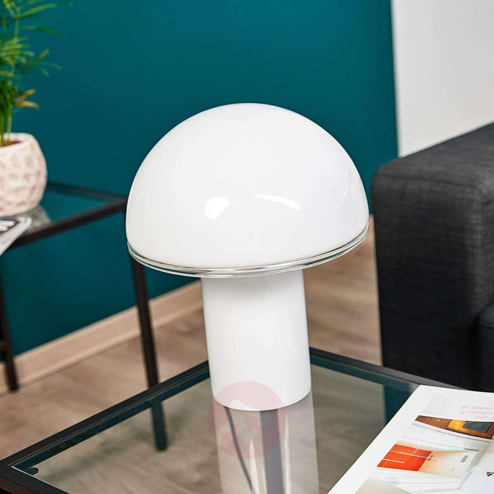 Lasinen design-pöytävalaisin Onfale medio-1060034-01