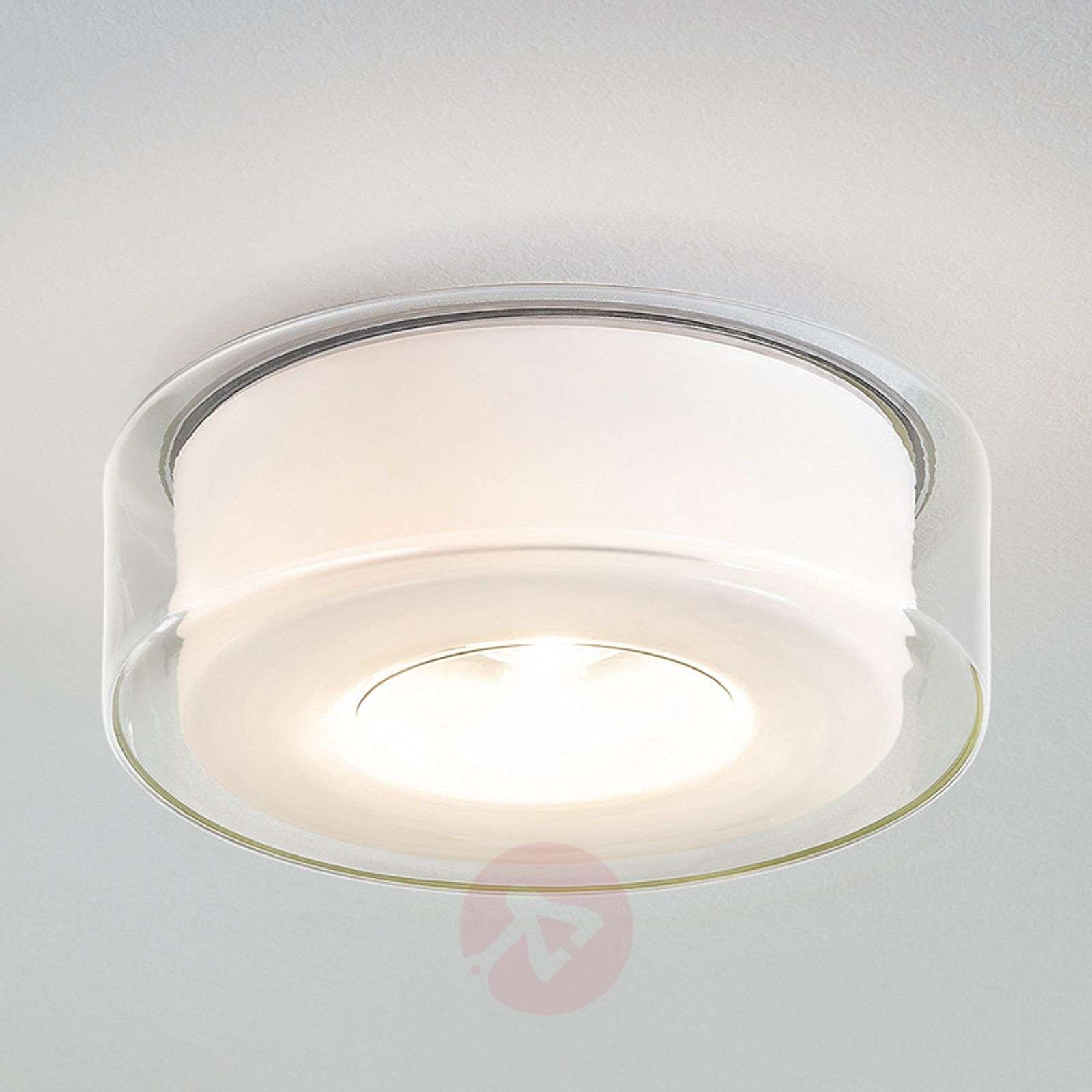 Lasinen LED-design-kattovalaisin Curling-8550016-01