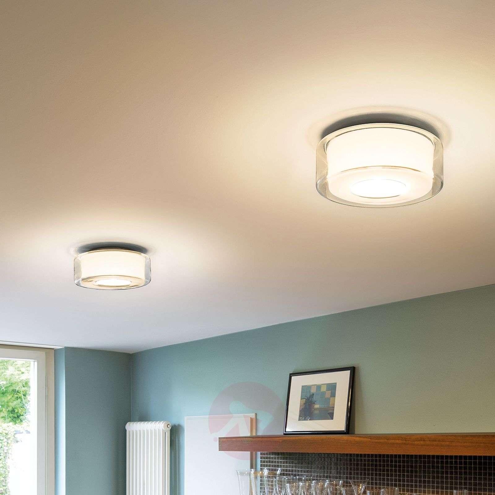 Lasinen LED-design-kattovalaisin Curling-8550016-01