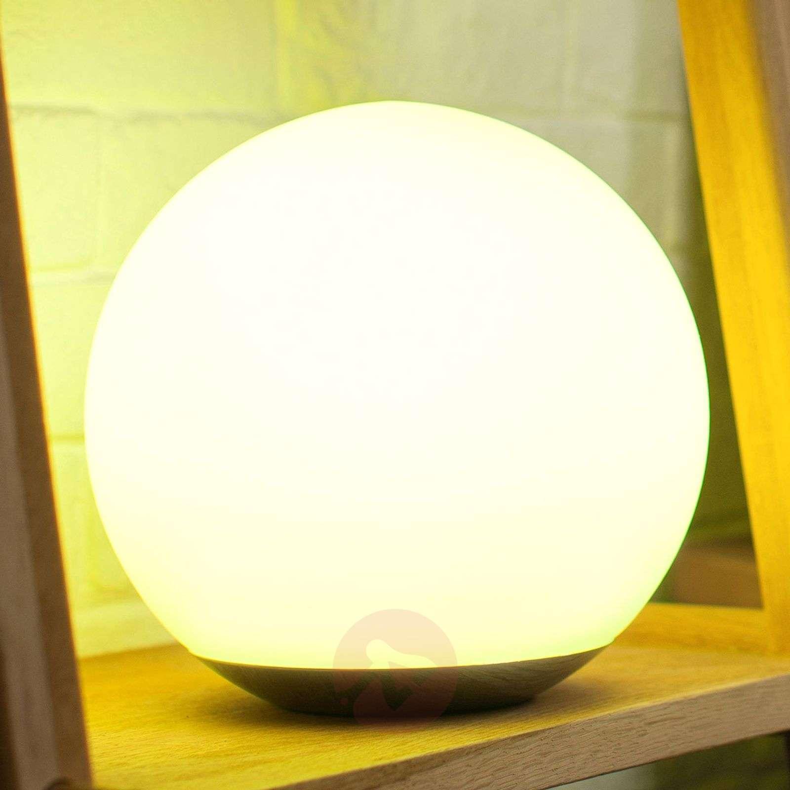 Lasinen LED-pöytälamppu Spirit WiZ-teknologialla-9038093-01