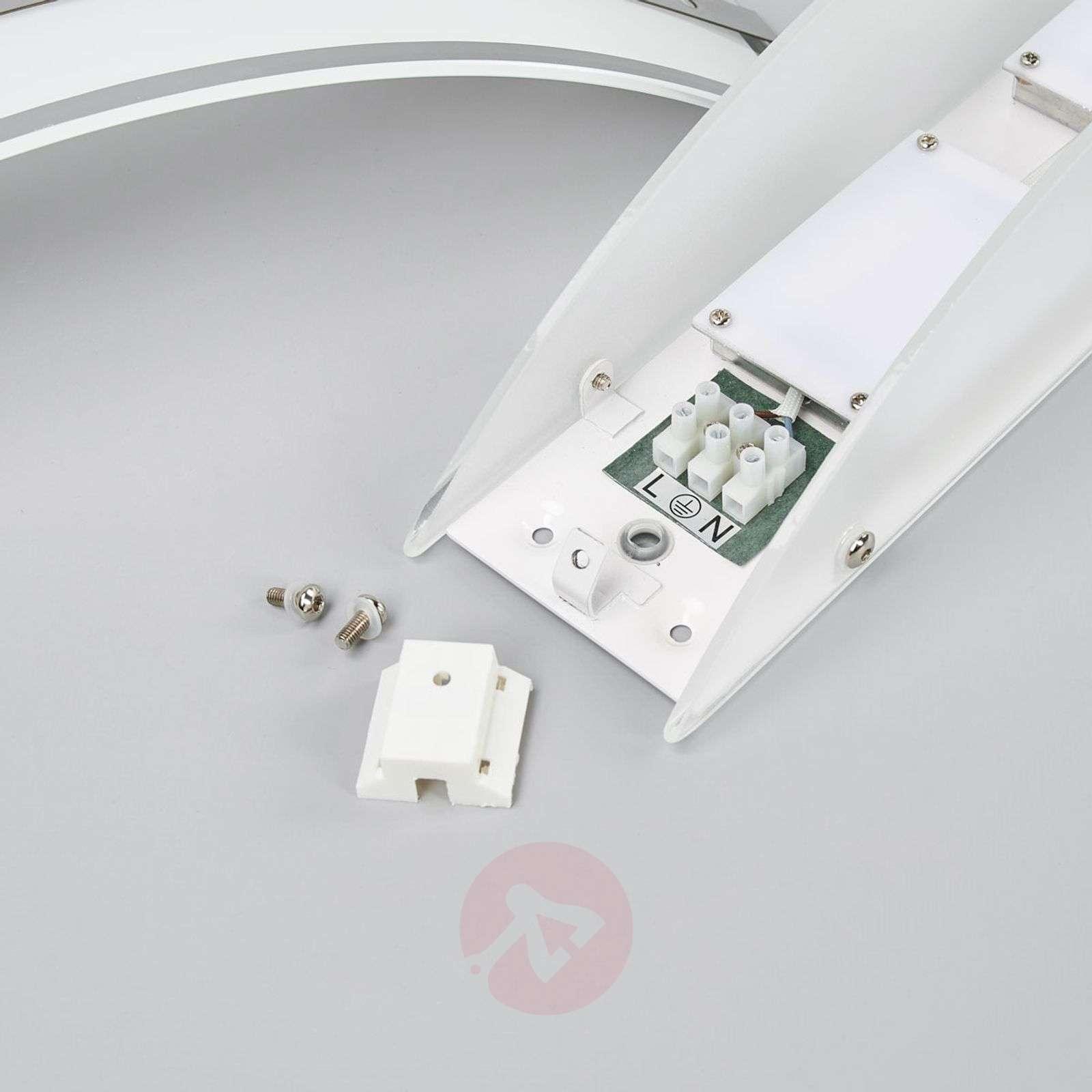 Lasinen LED-seinävalaisin Lianda kromikaistaleilla-9634066-01