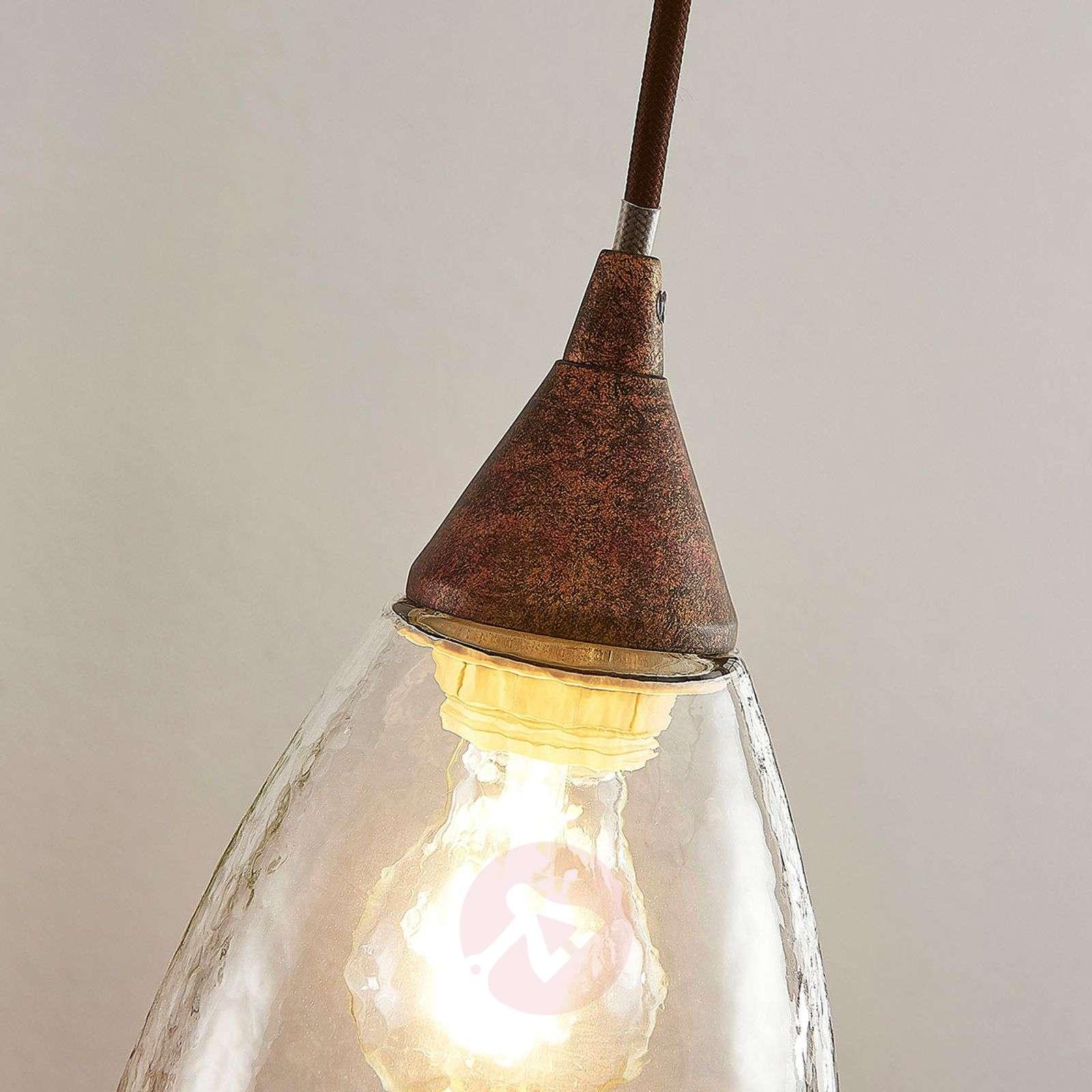 Lasinen riippuvalaisin Millina, ruoste, 1-lamp.-9624130-01