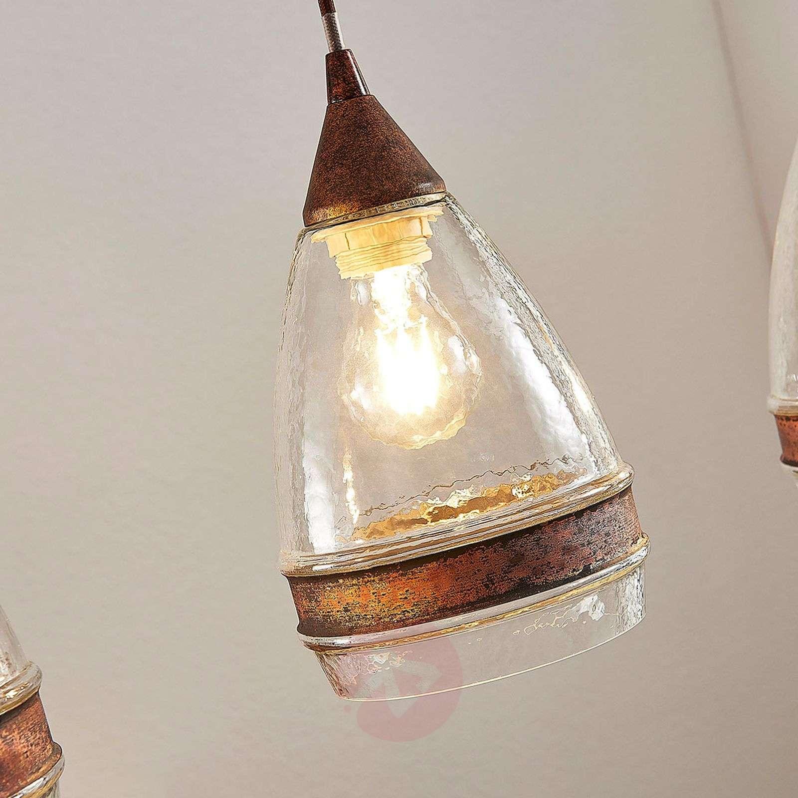 Lasinen riippuvalaisin Millina, ruoste, 3-lamp.-9624131-01