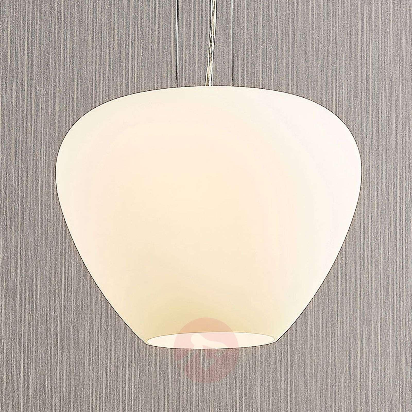 Lasinen riippuvalo Bibiane, opaalinvalkoinen-9624445-02