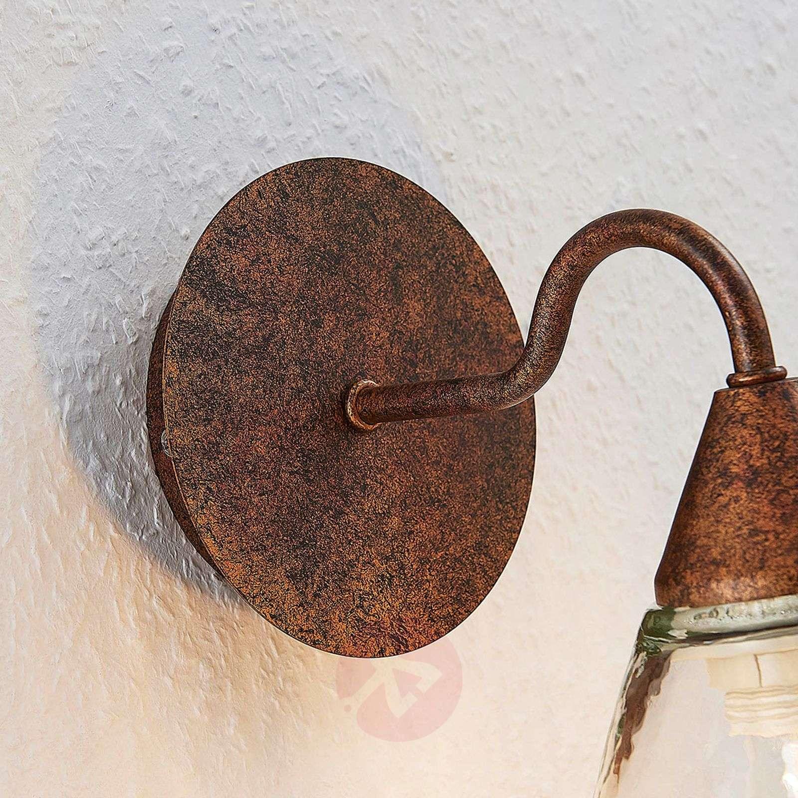 Lasinen seinävalaisin Millina, ruosteenruskea-9624129-01