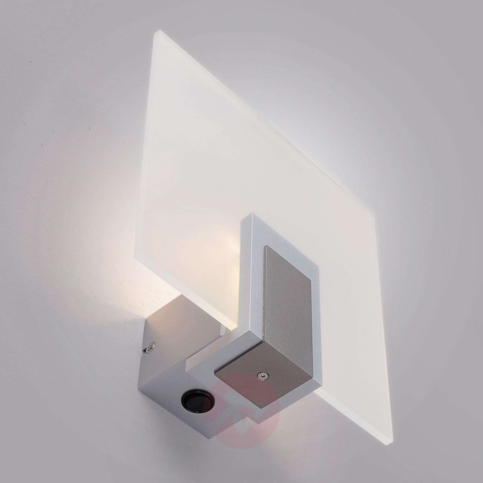 Lasinen seinävalaisin Sara, LED ja kytkin-6722091-01