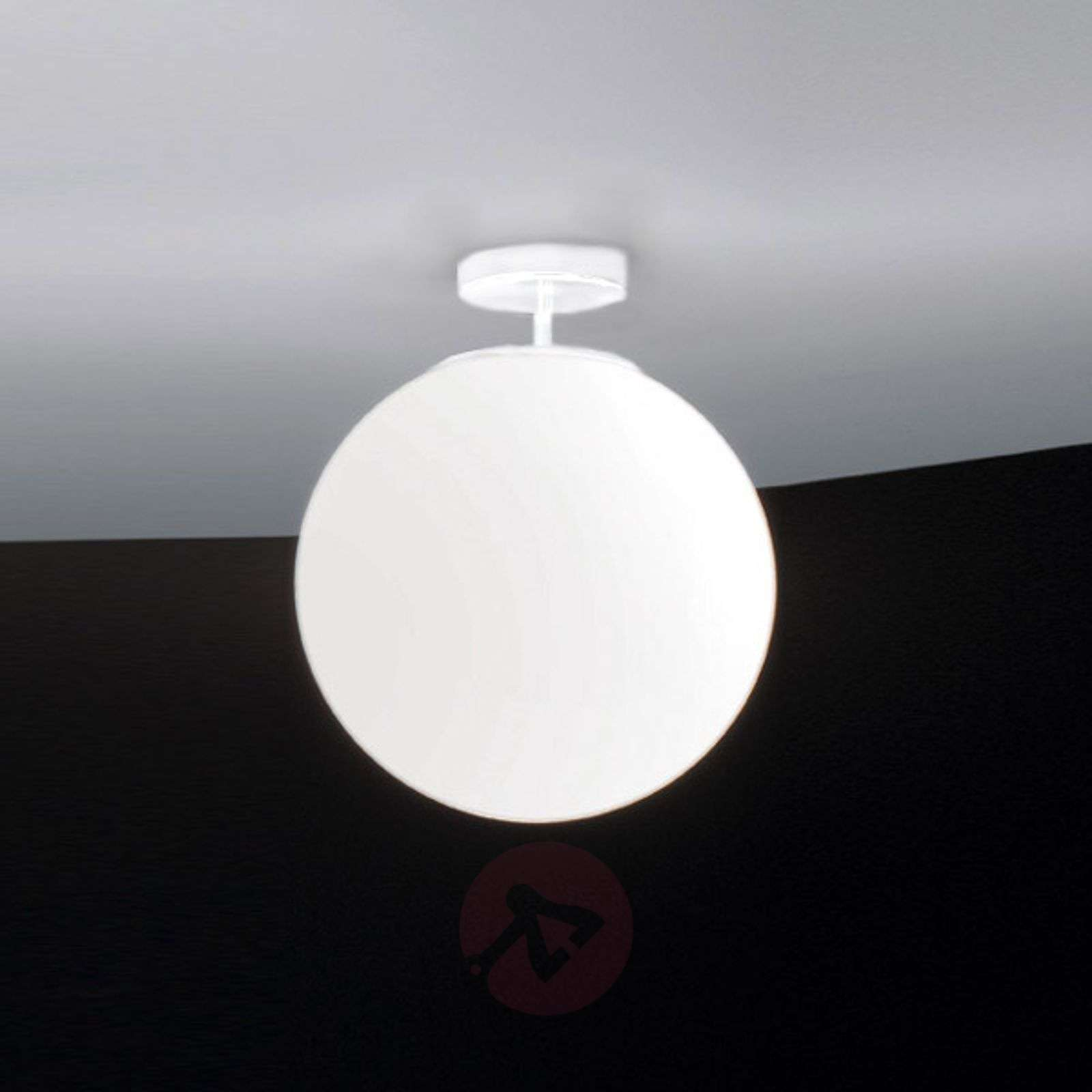 Lasinen Sferis-kattovalaisin, 30 cm, valkoinen-1053050-01