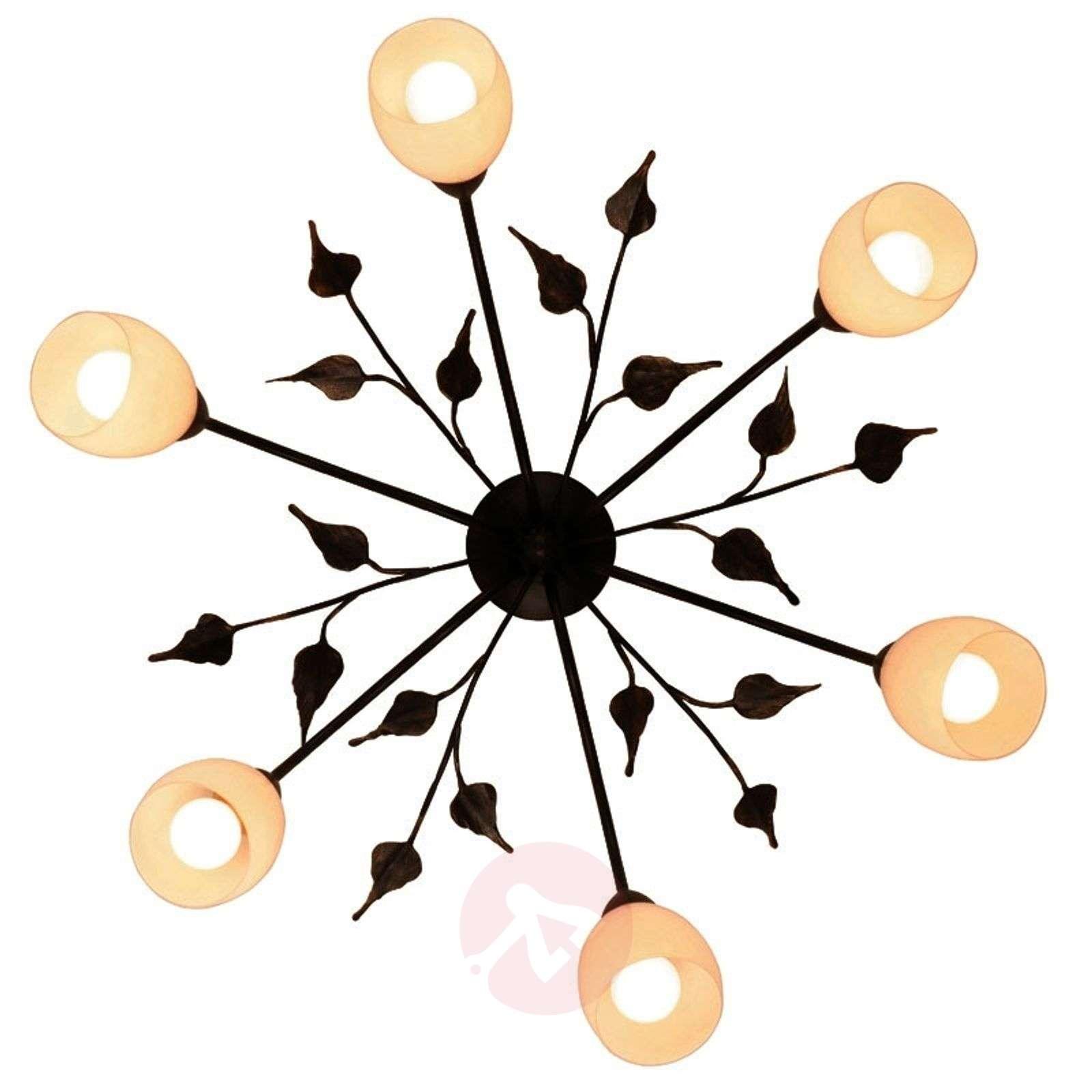 Lasitulppaanein koristeltu kattovalaisin CHALET-6528085-01