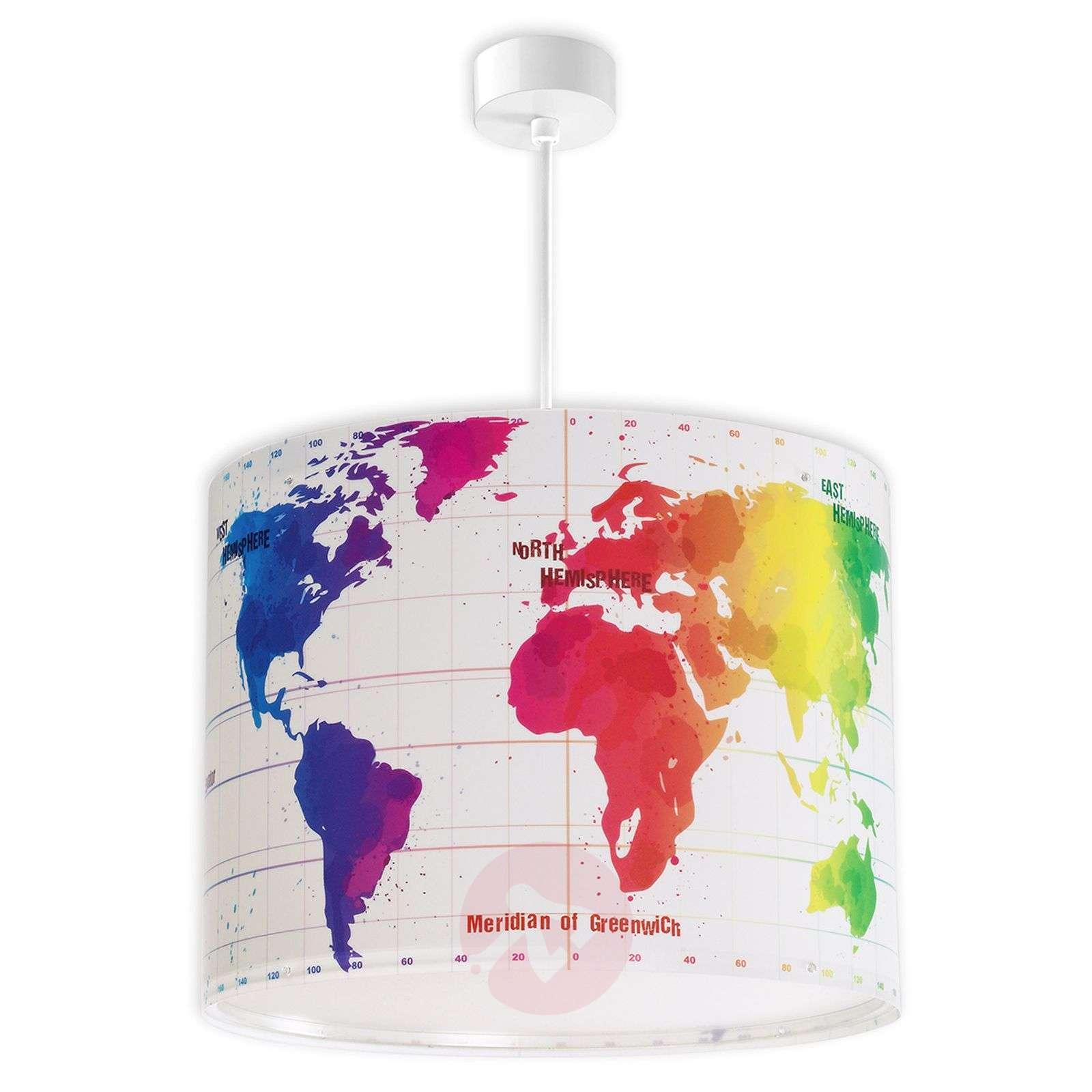 Lastenhuoneen riippuvalaisin Map maailmankartalla-2507315-01
