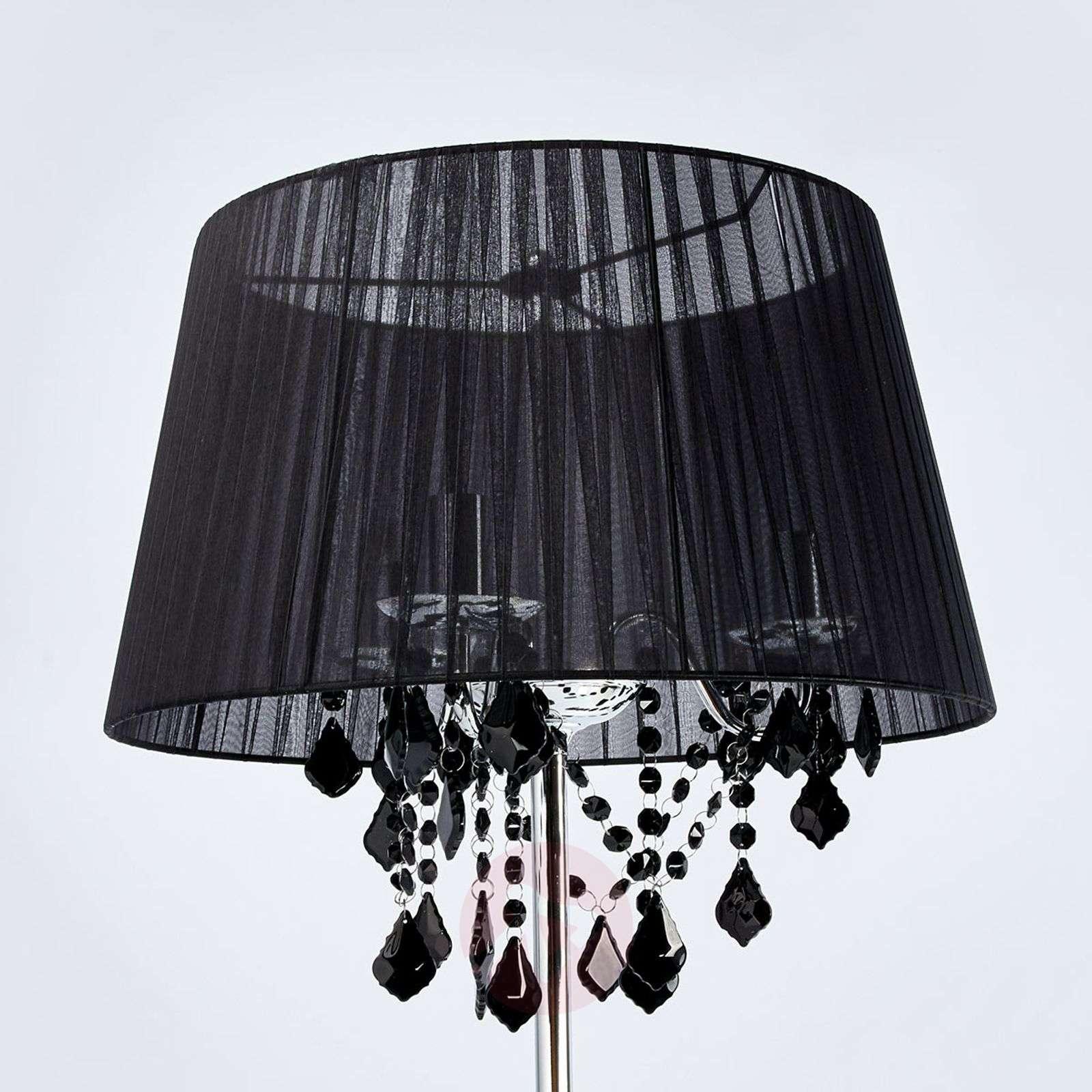 Lattiavalaisin Inaya musta tekstiilivarjostin-4018126-02