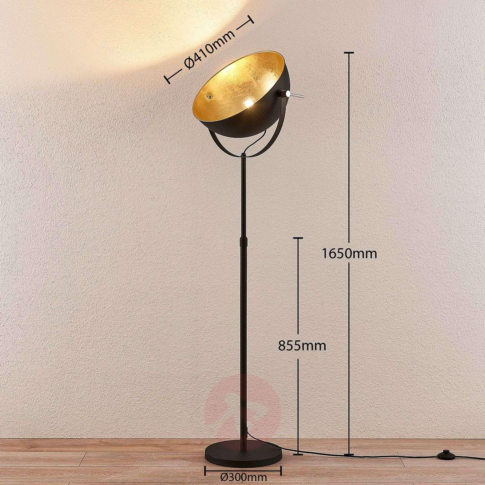 Lattiavalaisin Muriel 1-lamppuinen musta/kulta-9624228-02