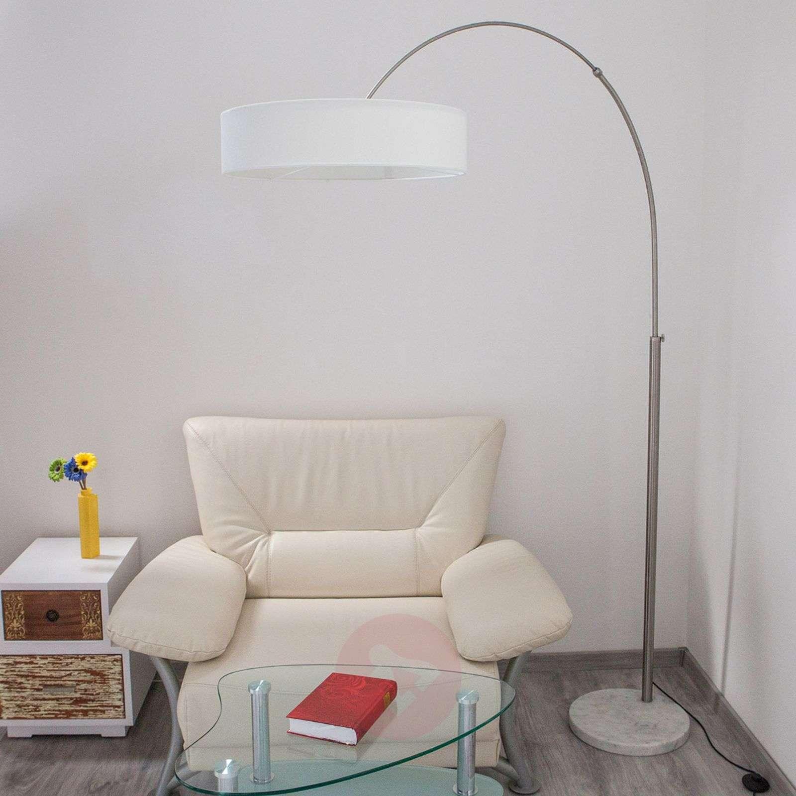 Lattiavalaisin Shing, valkoinen tekstiilivarjostin-9620142-01