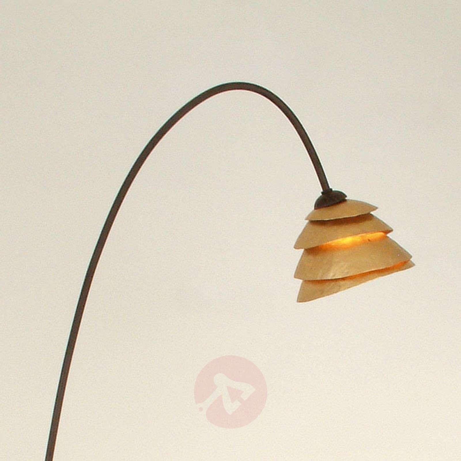Lattiavalaisin SNAIL 1-lamp. rauta, ruskea-kulta-4512010-01