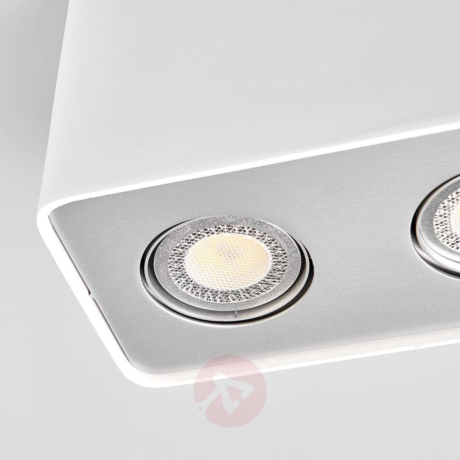 LED-alasvalo Giliano 3-lampp. kulmikas, valkoinen-9975007-01