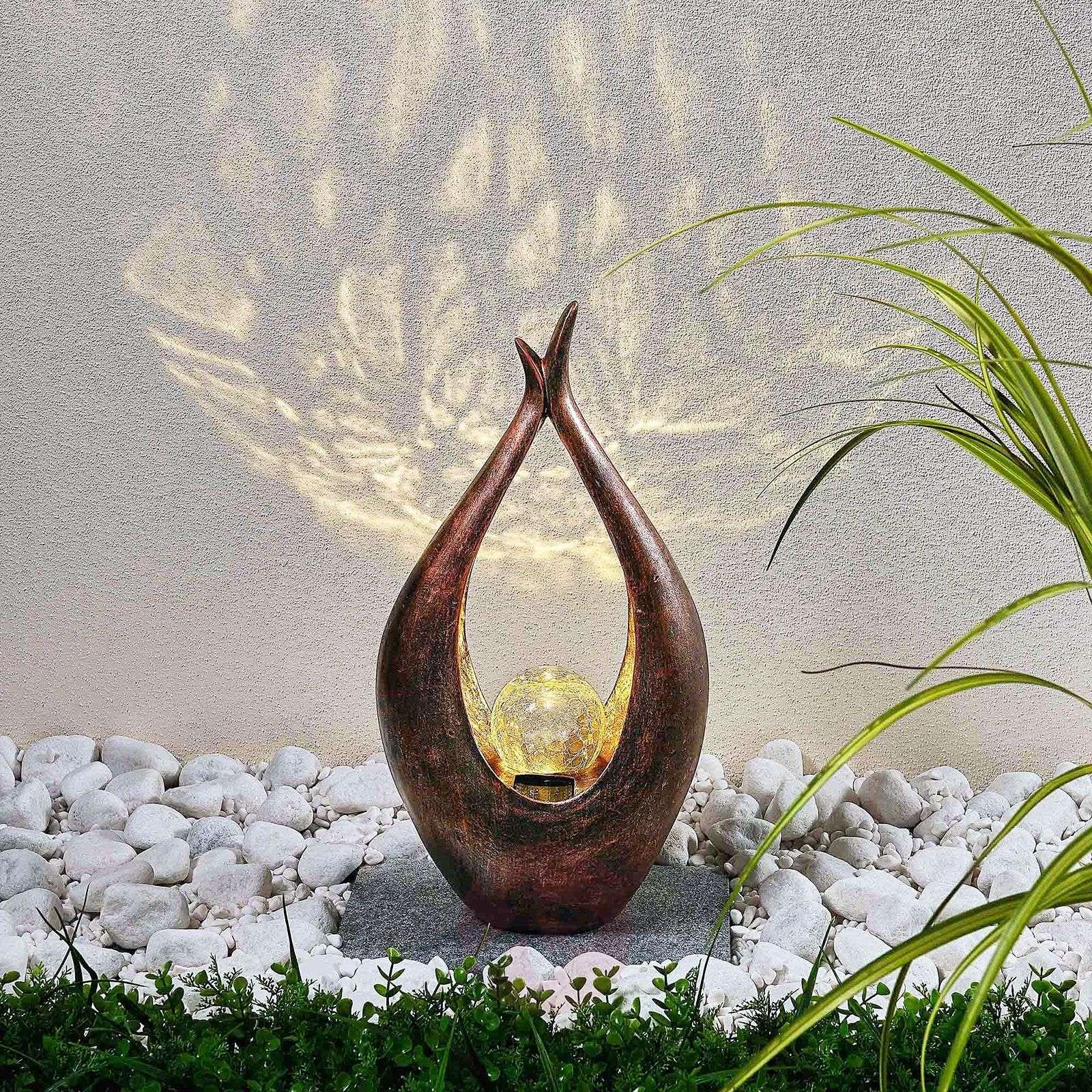 LED-aurinkokennovalaisin Adem, etnotyyli, 50 cm