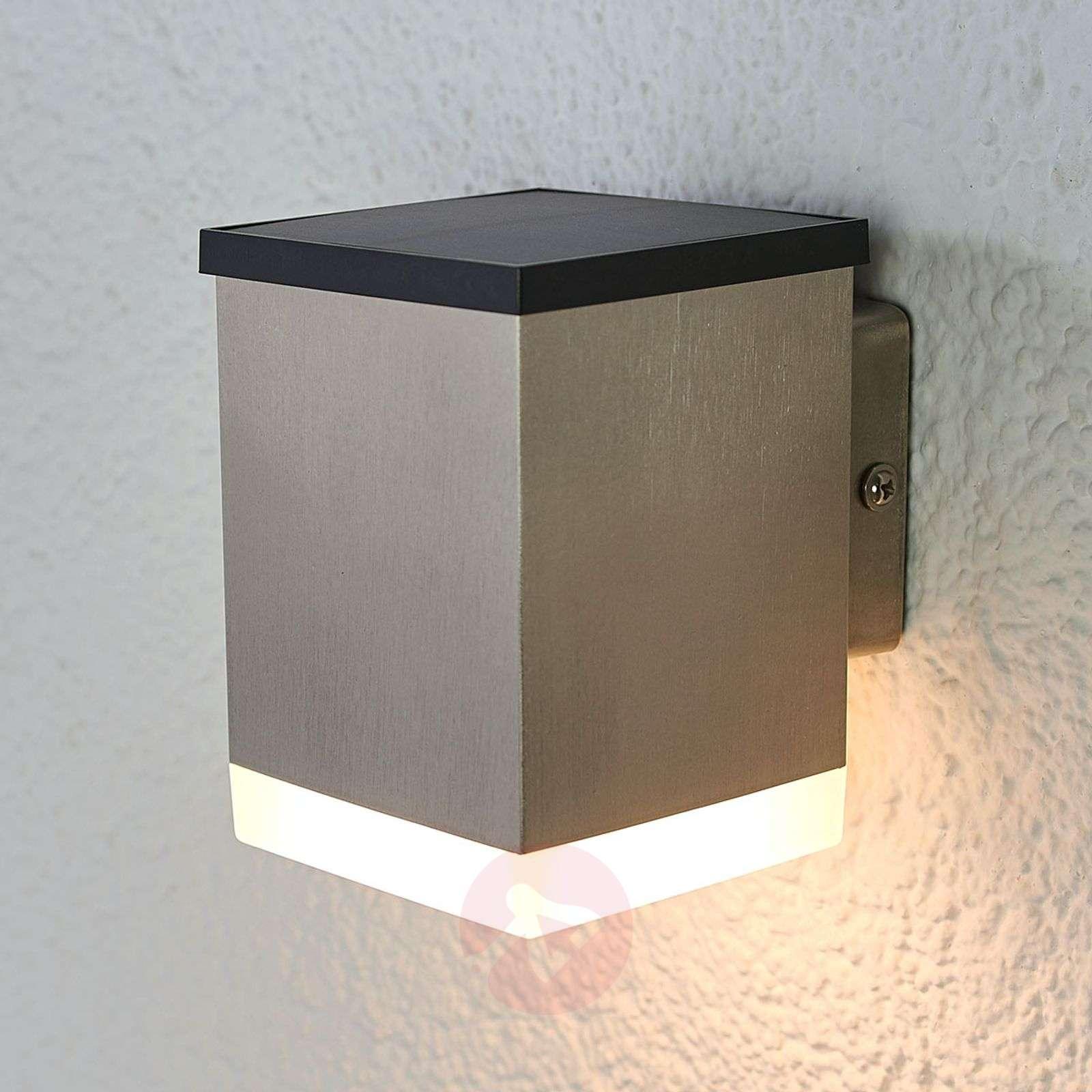 LED-aurinkoseinälamppu Tyson, kulmikas, satinoitu-9988127-02